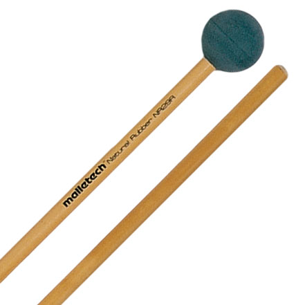Malletech Natural Rubber Hard Xylophone Mallets with Birch Shafts
