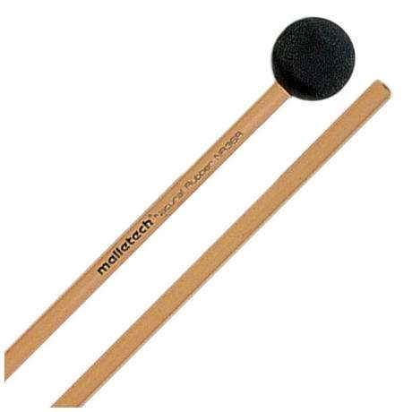 Malletech Natural Rubber Very Hard Xylophone Mallets with Rattan Shafts