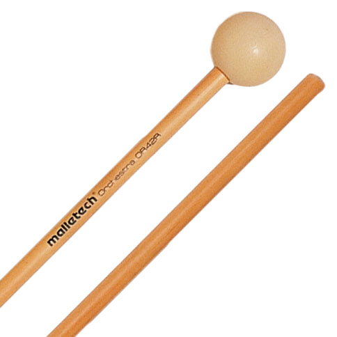 Malletech Orchestra Series Hard Xylophone Mallets with Rattan Shafts