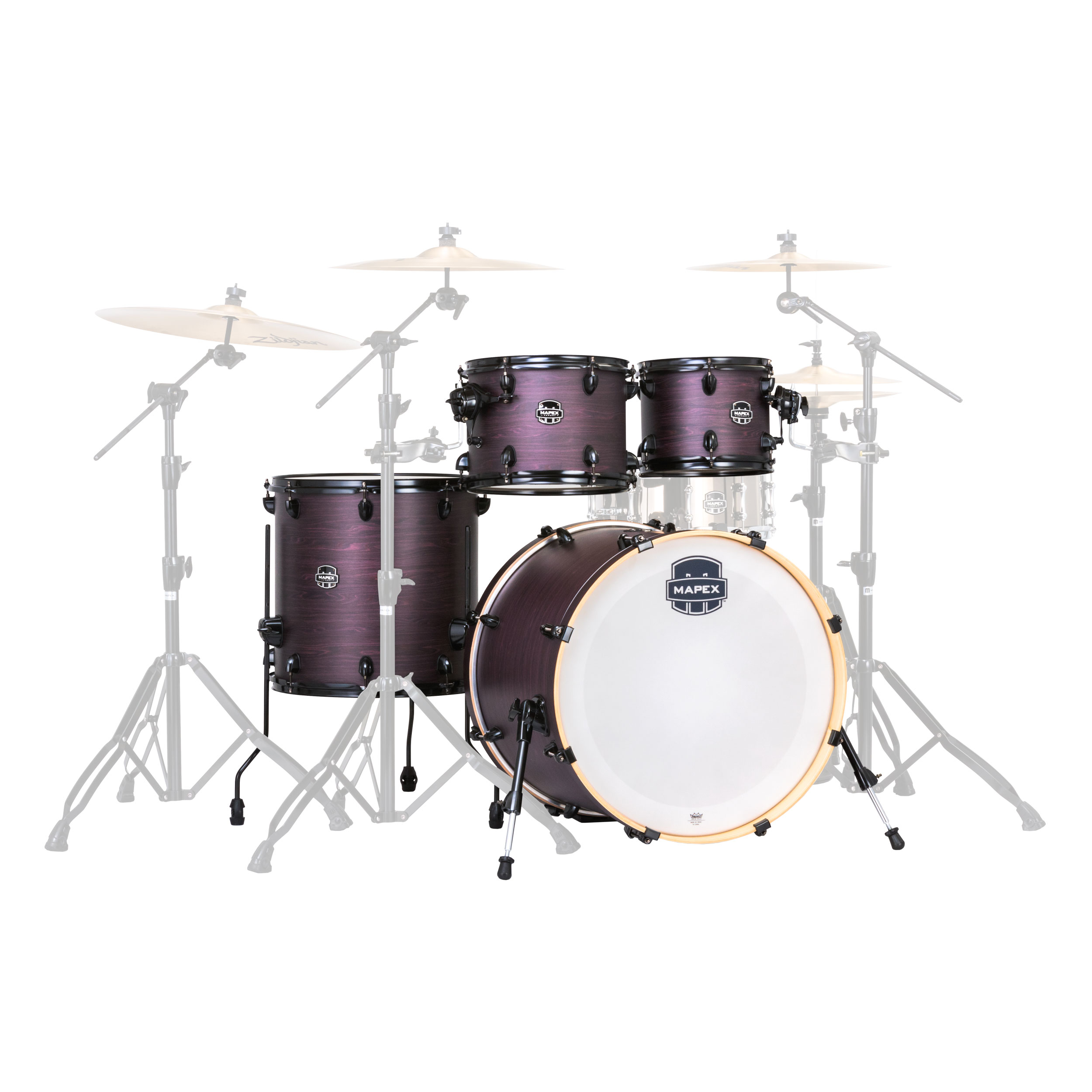 """Mapex Armory Rock 5-Piece Drum Set Shell Pack (22"""" Bass, 10/12/16"""" Toms, 14"""" Snare)"""