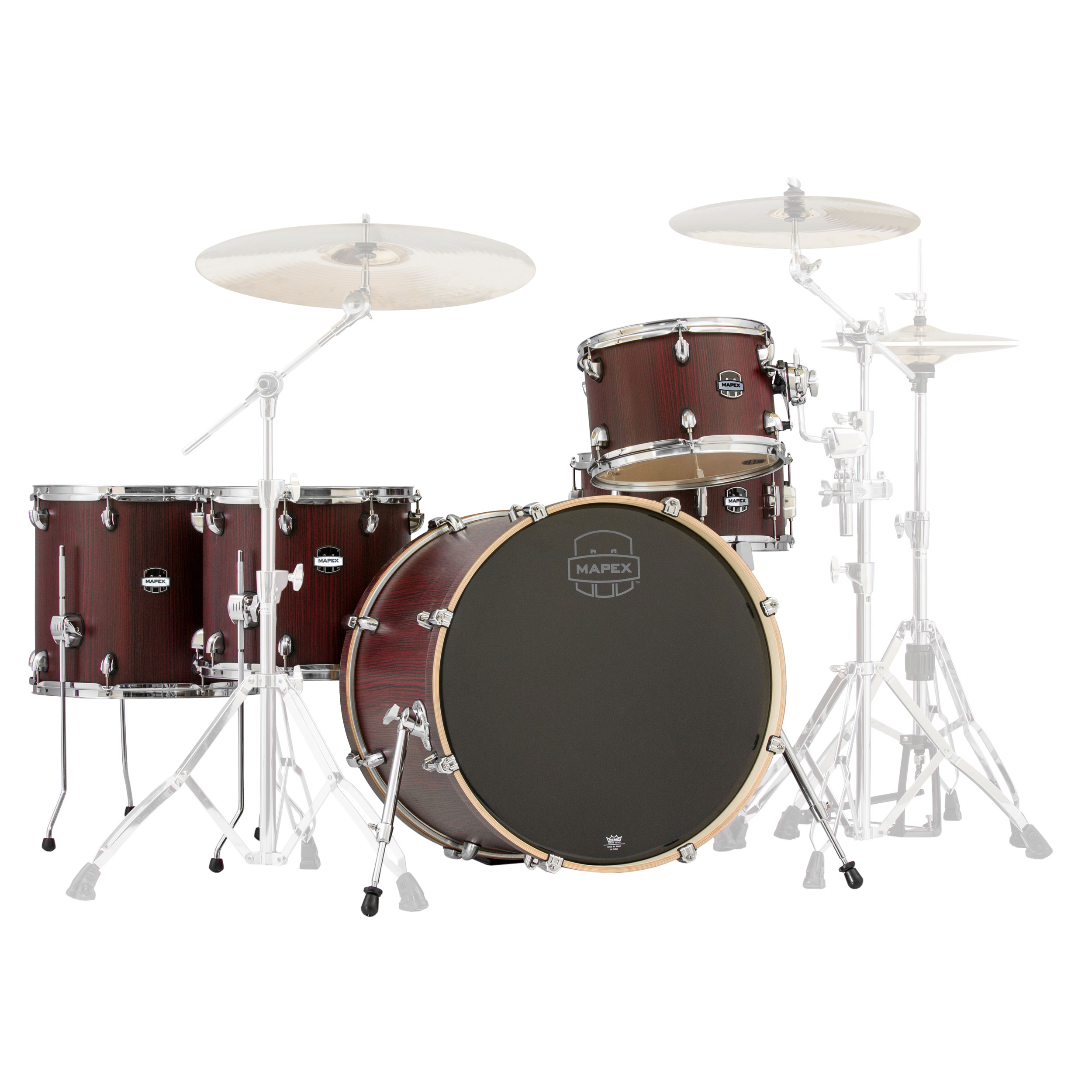Mapex mars 5 piece crossover drum set shell pack 22 bass for Bali motorized blinds programming