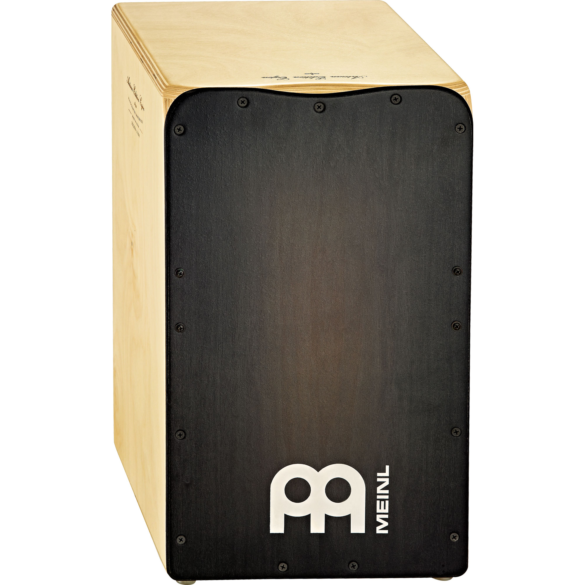 Meinl Solea Artisan Edition Flamenco Cajon with Cedar in Ebony Burst Frontplate