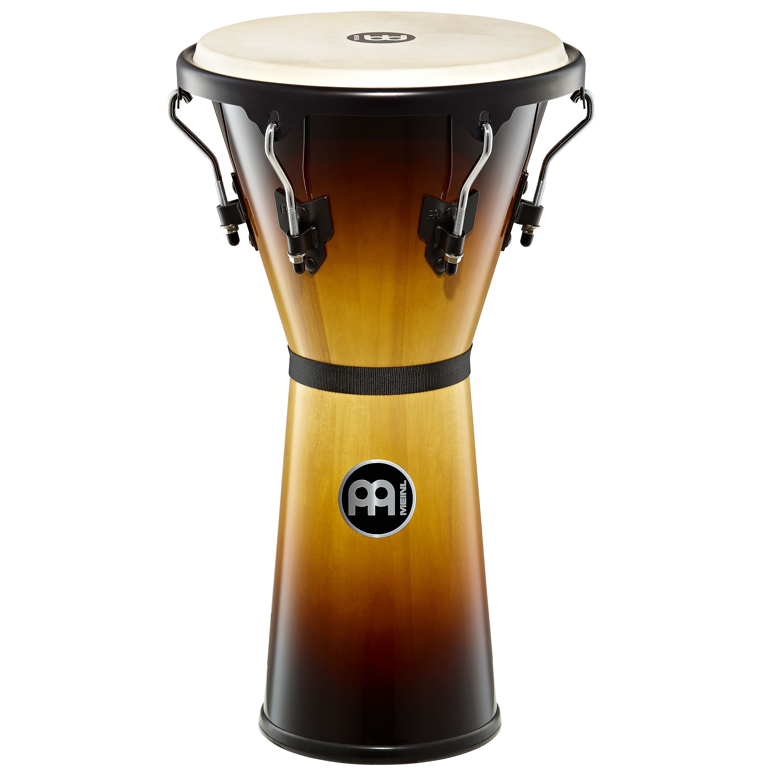 "Meinl 12 1/2"" Headliner Series Wood Djembe in Vintage Sunburst Finish"