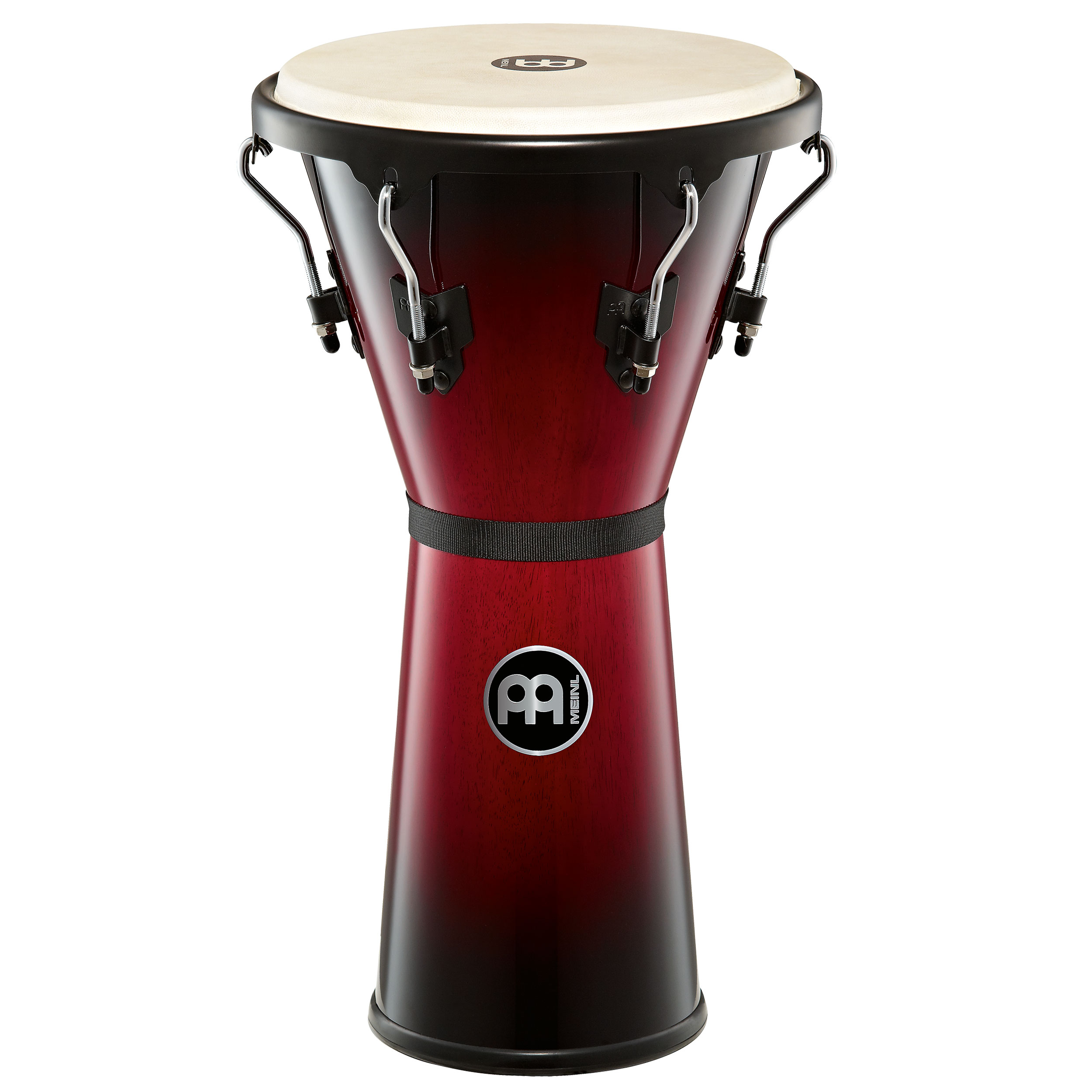 "Meinl 12 1/2"" Headliner Series Wood Djembe in Wine Red Finish"