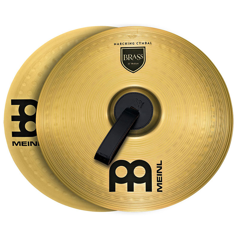 "Meinl 16"" Medium Brass Student Marching Cymbals Pair"