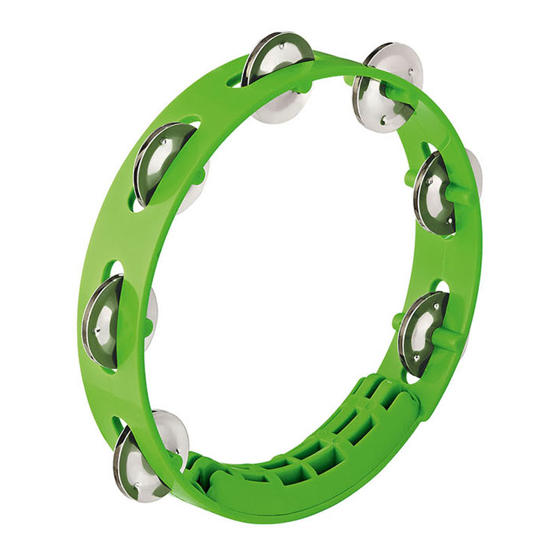 "Meinl Nino 8"" Compact ABS Tambourine in Green"