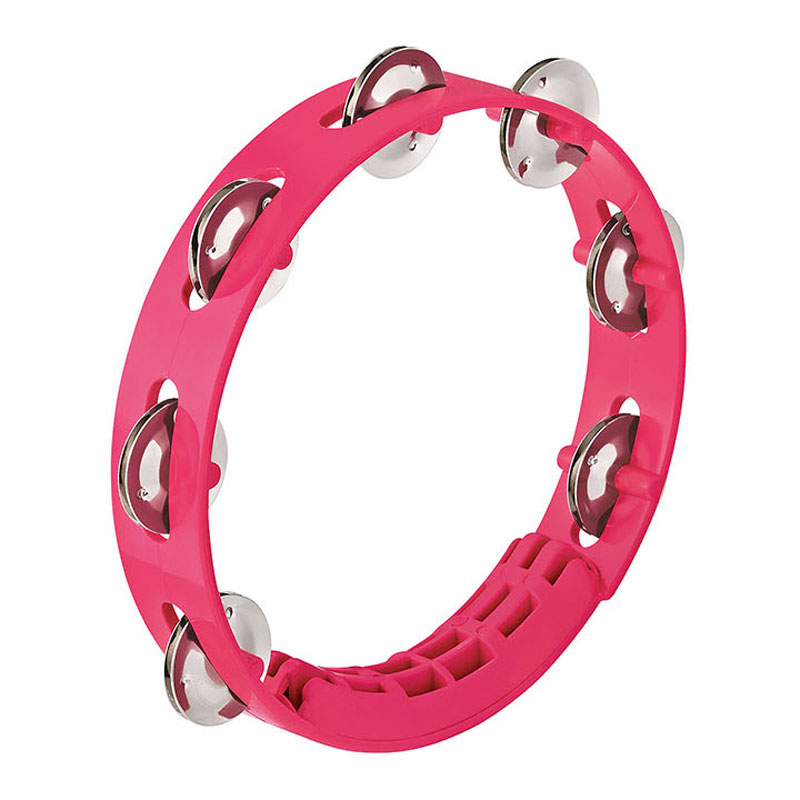 "Meinl Nino 8"" Compact ABS Tambourine in Strawberry Pink"