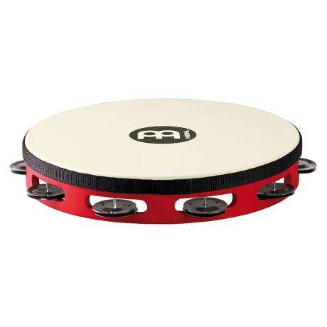 Meinl Single Row Black Steel Tambourine (Synthetic Head)