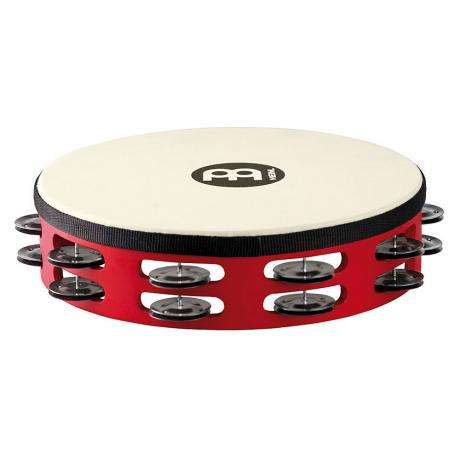 Meinl Double Row Black Steel Tambourine (Synthetic Head)