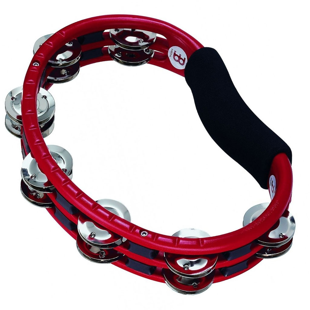 Meinl Handheld ABS Double Row Steel Tambourine (Red)