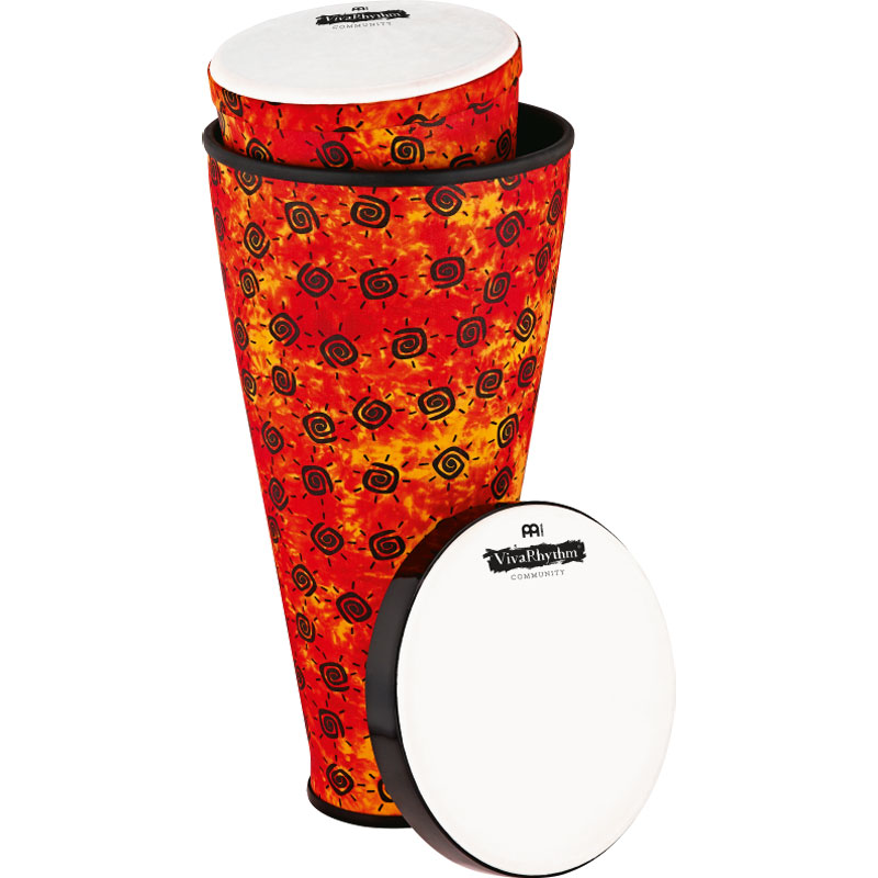 """Meinl VivaRhythm 9.5"""" & 12"""" Boom Series Stack Drum Set with Pre-Tuned Synthetic Heads"""