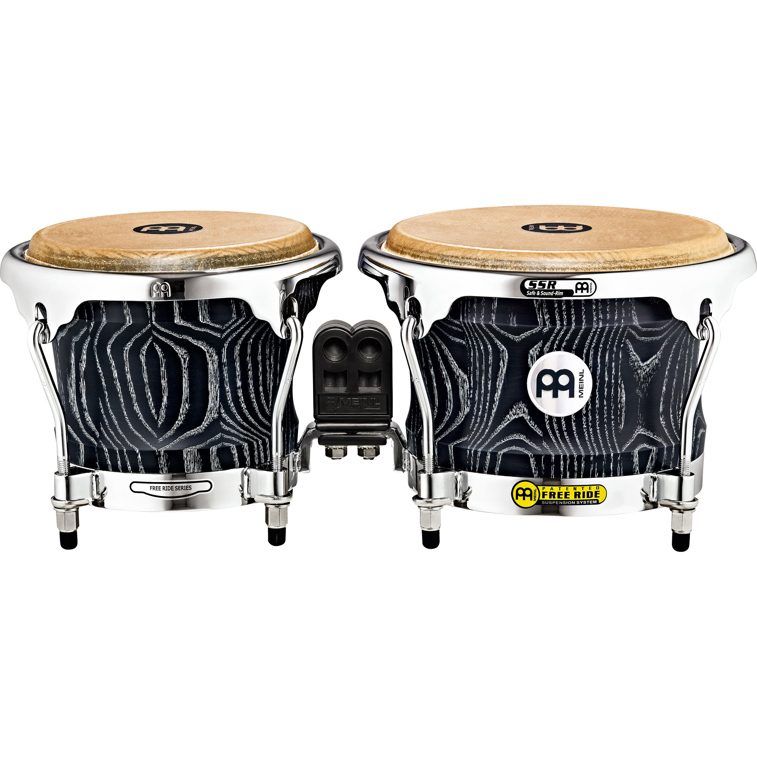 "Meinl 7"" & 8.5"" Woodcraft Series Bongos in Vintage Black"