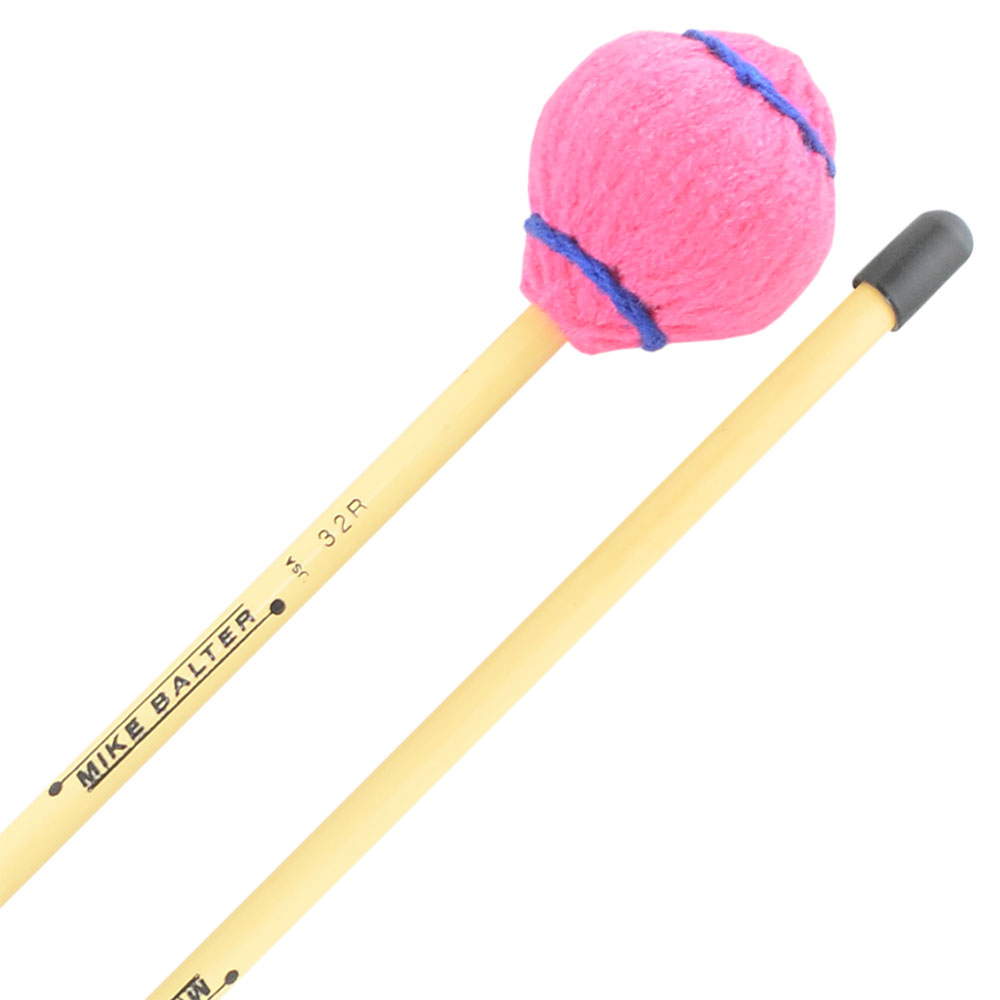 Mike Balter Wide Bar Series Medium Vibraphone Mallets with Rattan Handles