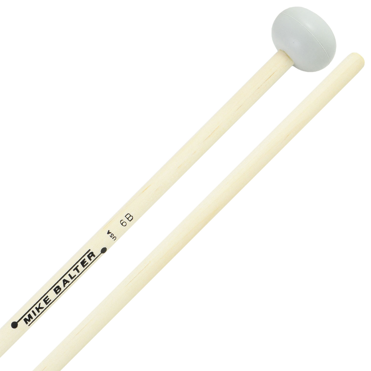 Mike Balter Unwound Hard Rubber Xylophone Mallets with Birch Handles