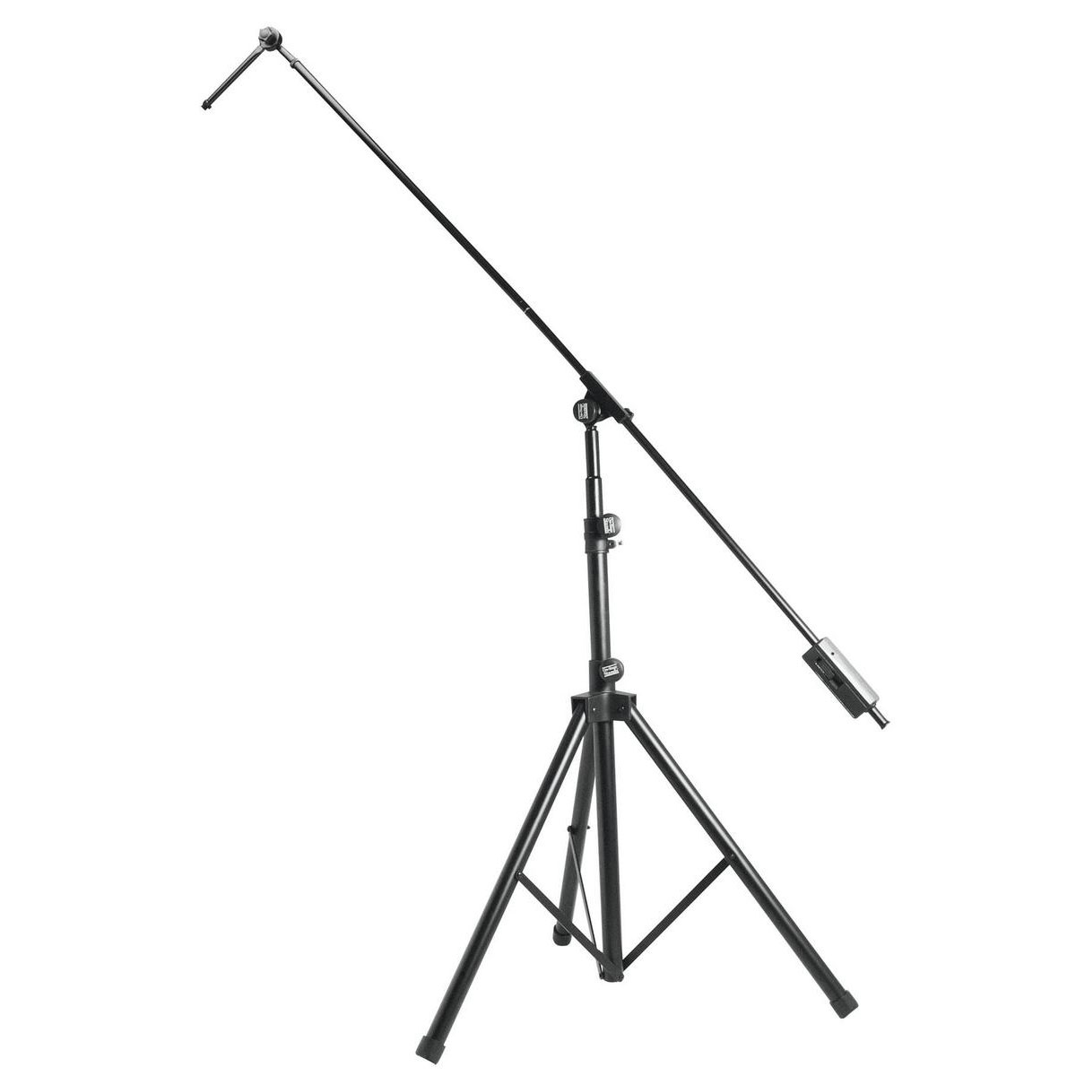 "On Stage Tripod Studio Boom Microphone Stand with 7"" Mini Boom Extension"