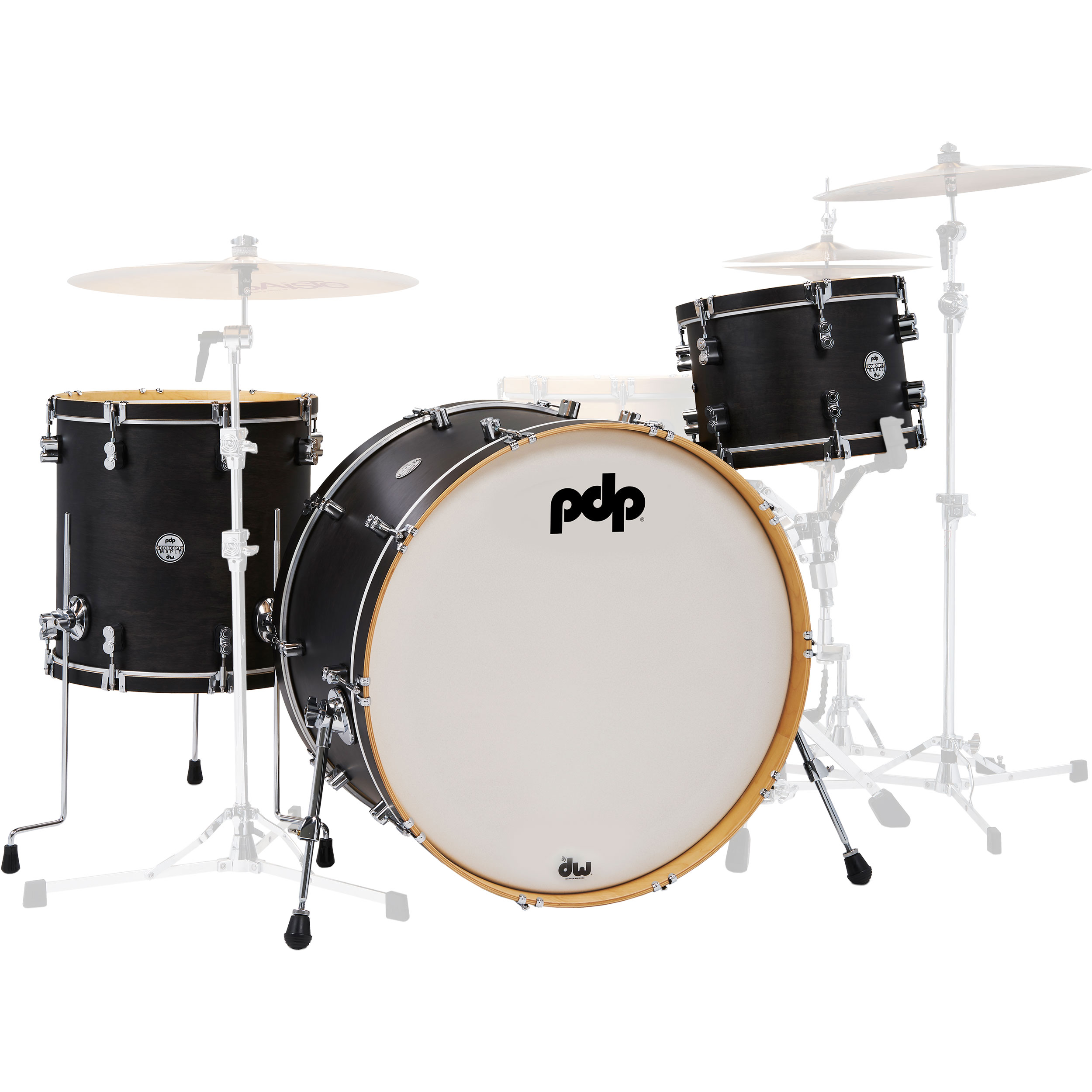 "PDP Concept Maple Classic 3-Piece Drum Set Shell Pack (26"" Bass, 13/16"" Toms)"