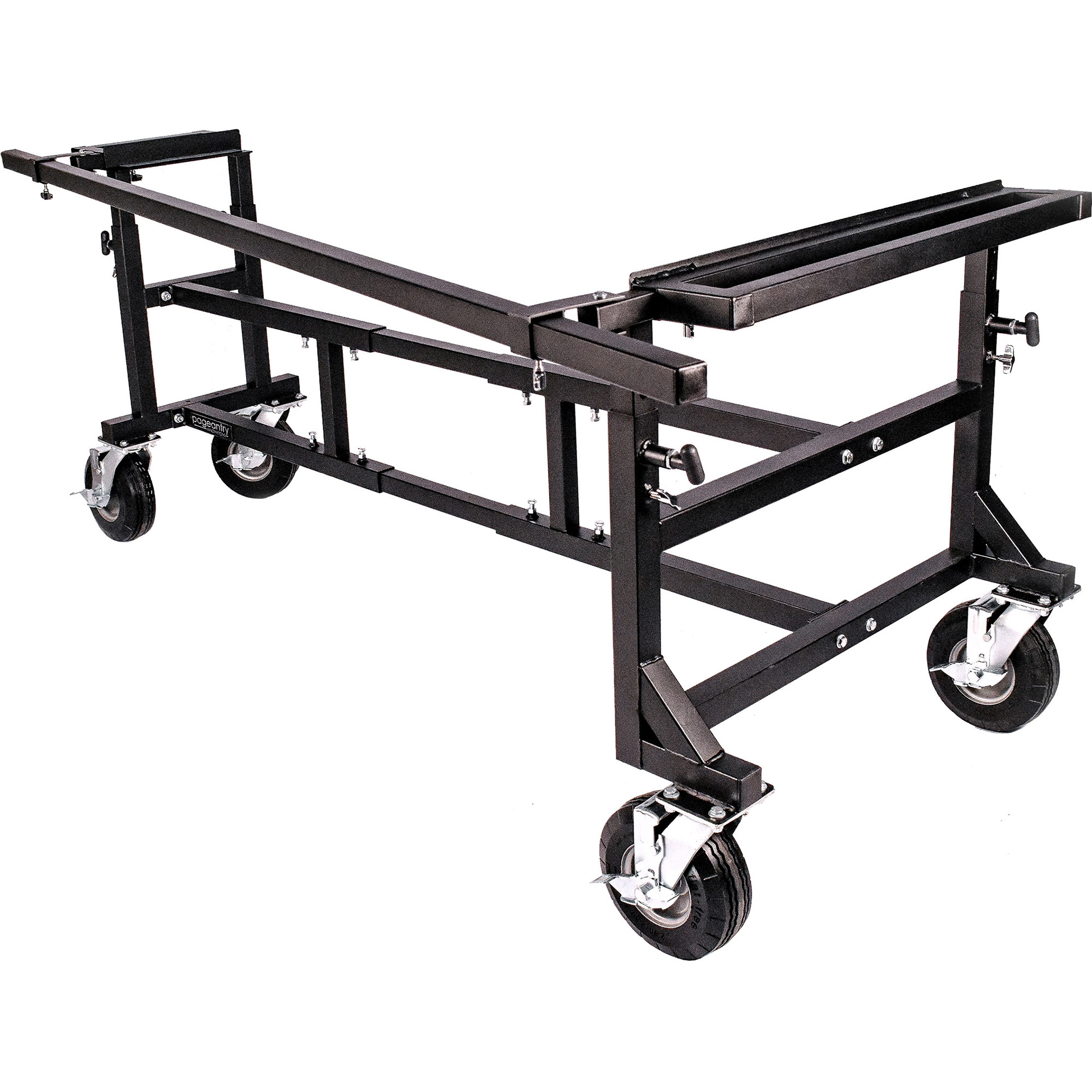 """Pageantry Innovations Large Universal Mallet Instrument Cart (57""""-102"""" Adjustable Width)"""