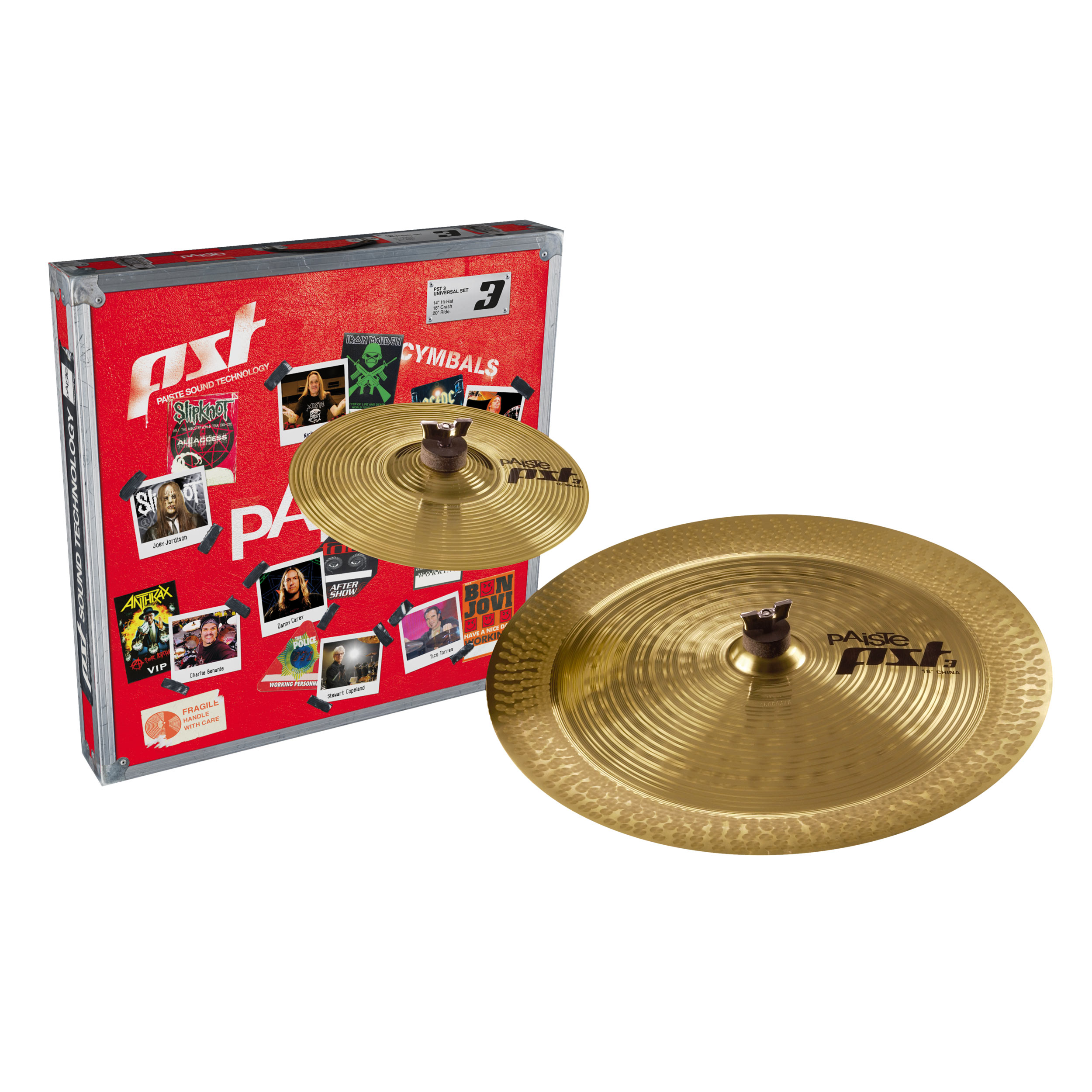 Paiste PST 3 Effects Pack 2-Piece Cymbal Box Set (Splash, China)