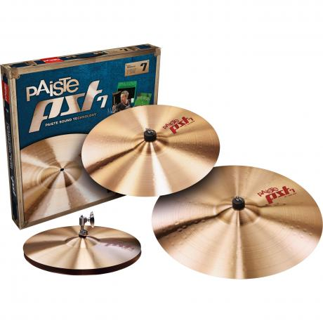 Paiste PST 7 3-Piece Session Cymbal Box Set (Hi Hats, Crash, Ride)