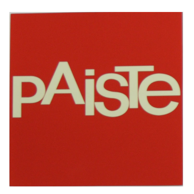 Paiste Red/White Classic Paiste Sticker