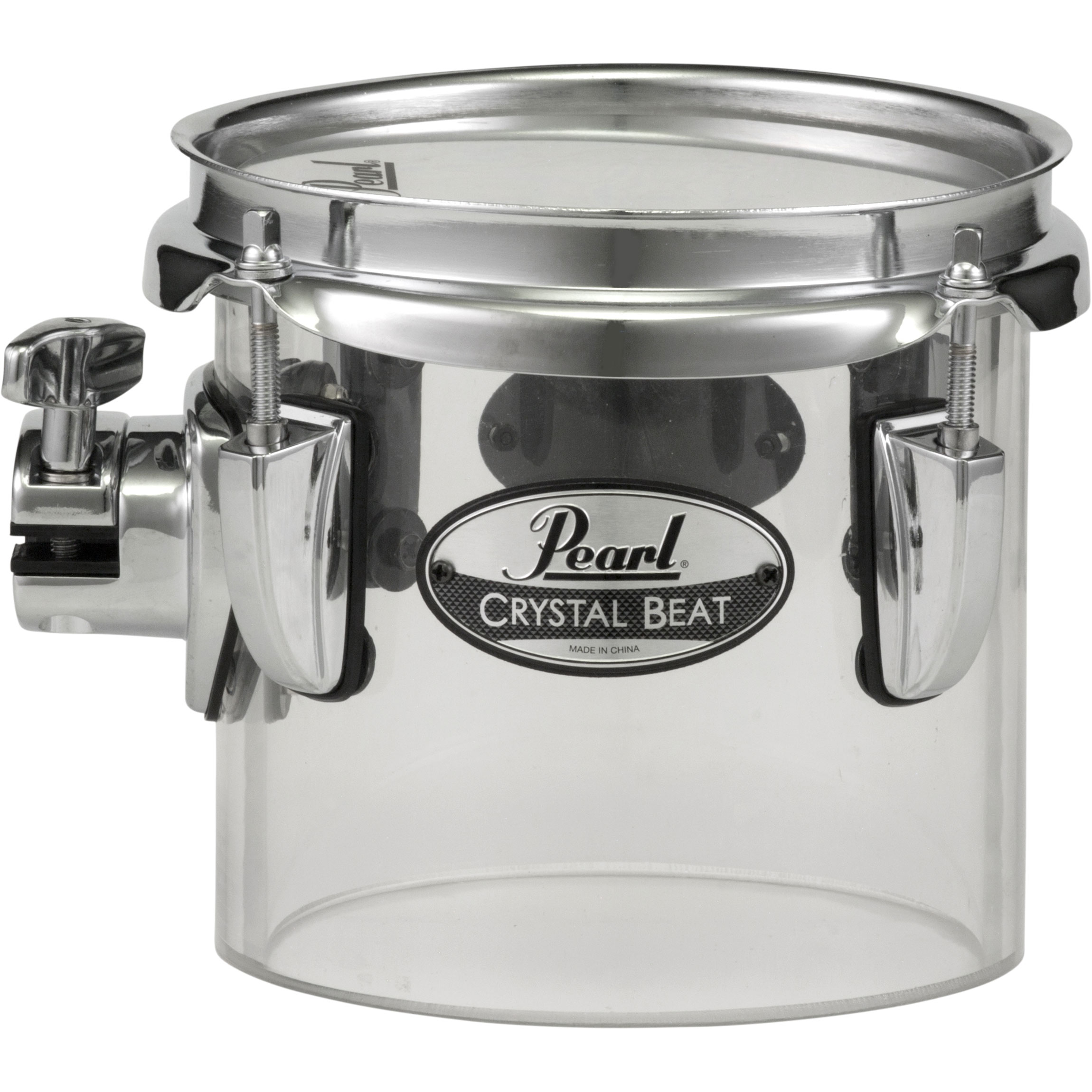 "Pearl 6"" (Diameter) x 5.5"" (Deep) Crystal Beat Single-Headed Concert Tom in Ultra Clear"