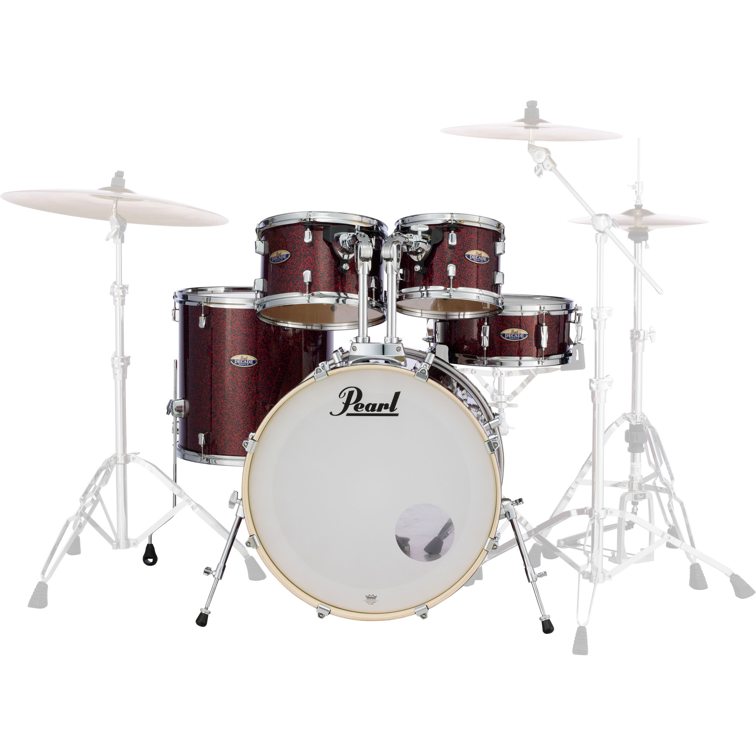 """Pearl Decade Maple 5-Piece Drum Set Shell Pack (20"""" Bass, 10/12/14"""" Toms, 14"""" Snare) in Wrap Finish"""