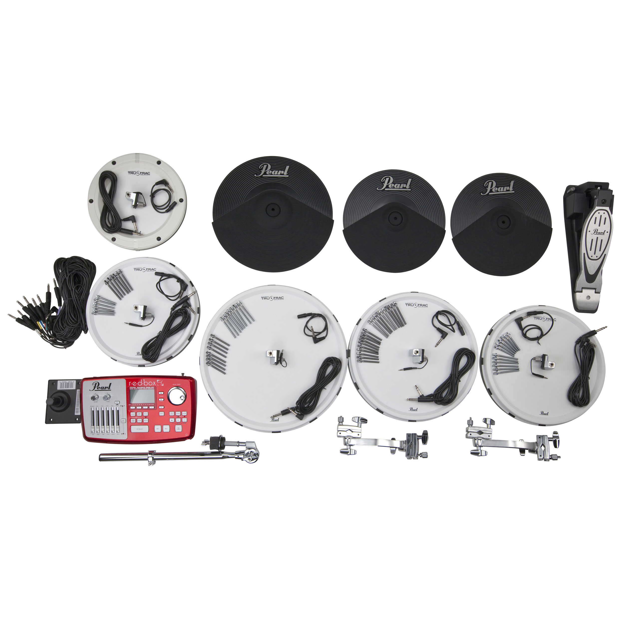 "Pearl EPAD-25 Electronic Drum Set with 12-13-14-16"" Tru-Trac Heads, Bass Pad, Module & Plastic Cymbals"