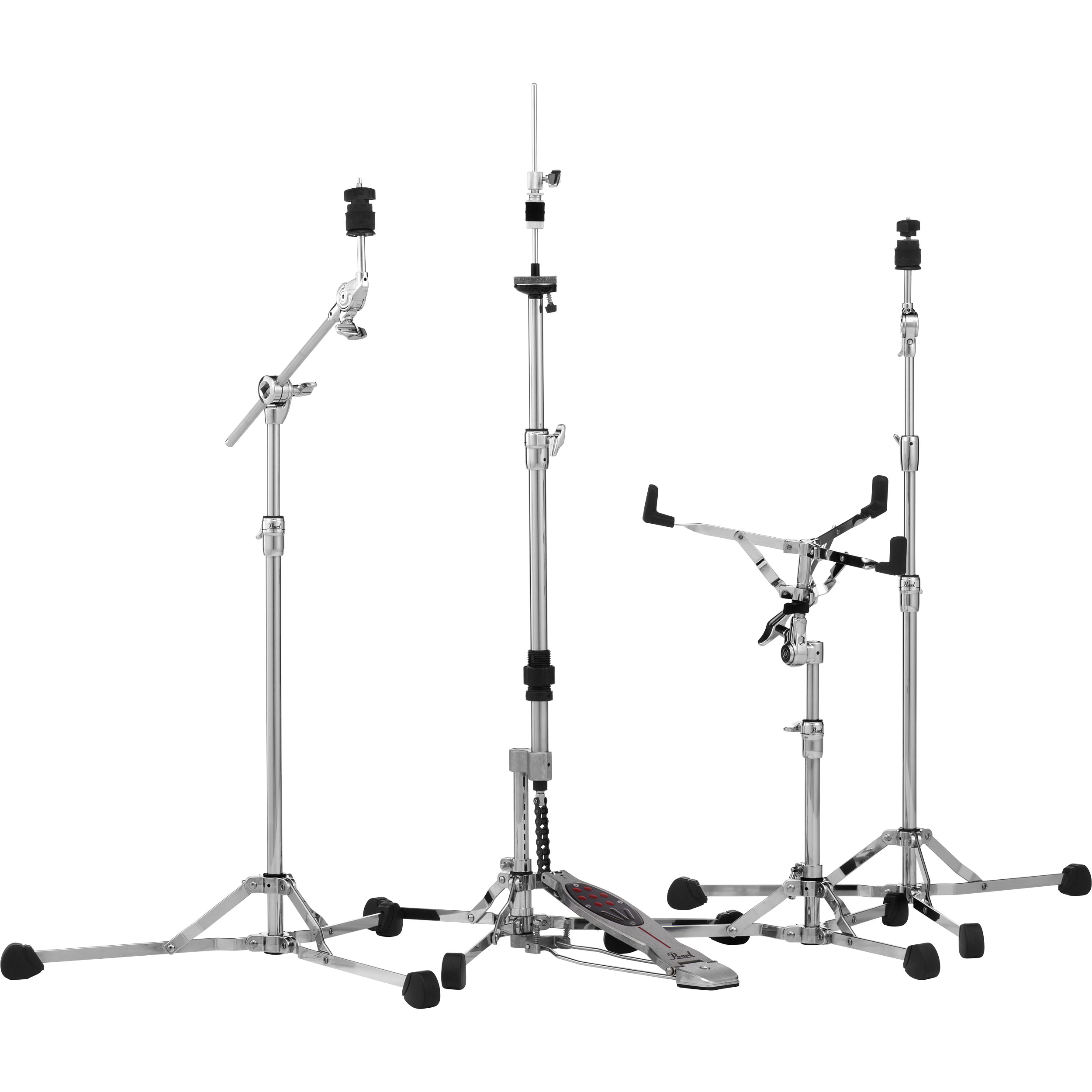 Pearl 150 Series Lightweight Hardware Pack (Snare, Straight & Boom Cymbal, Hi Hat Stands)