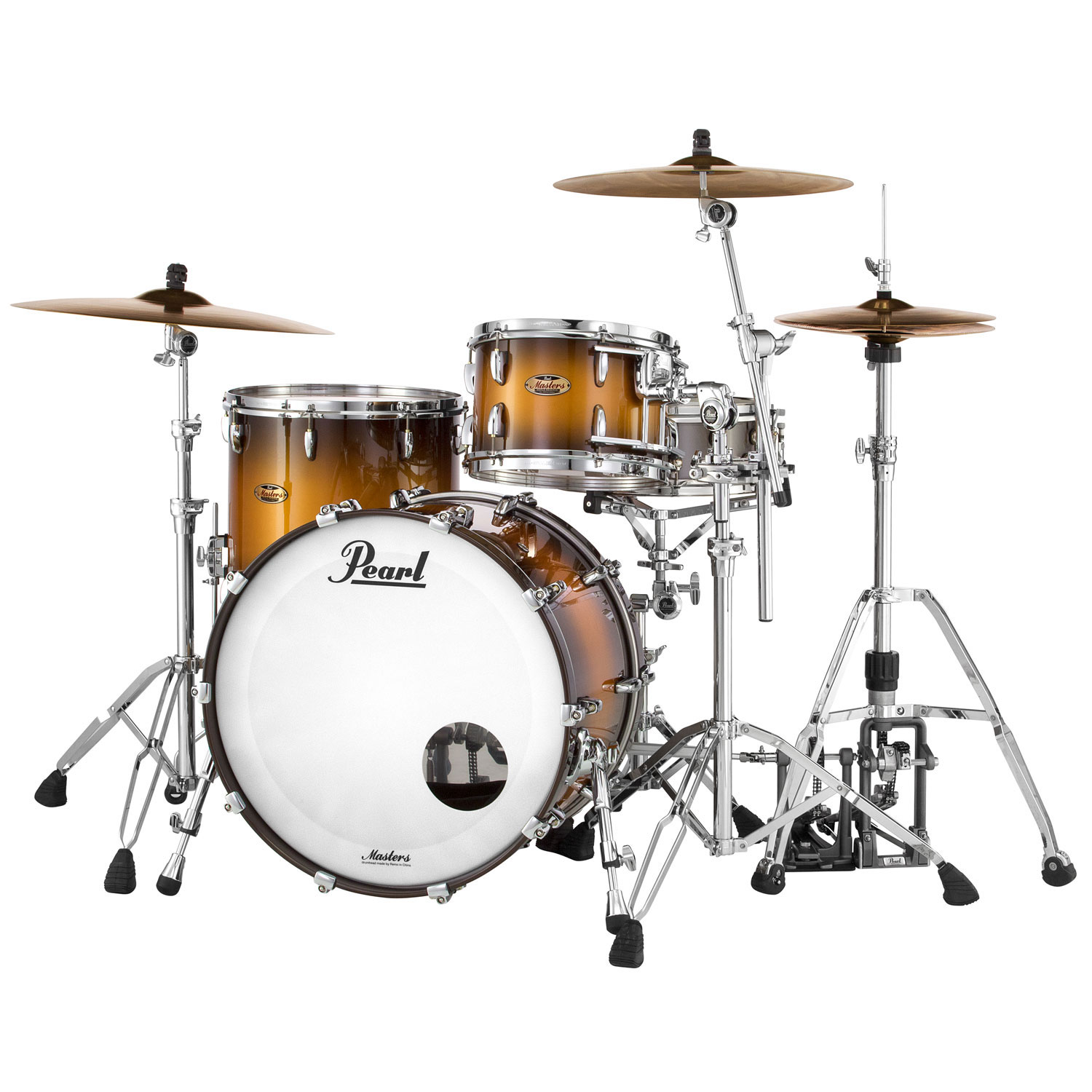 "Pearl Masters Maple Complete 3-Piece Drum Set Shell Pack (20"" Bass, 12/14"" Toms)"