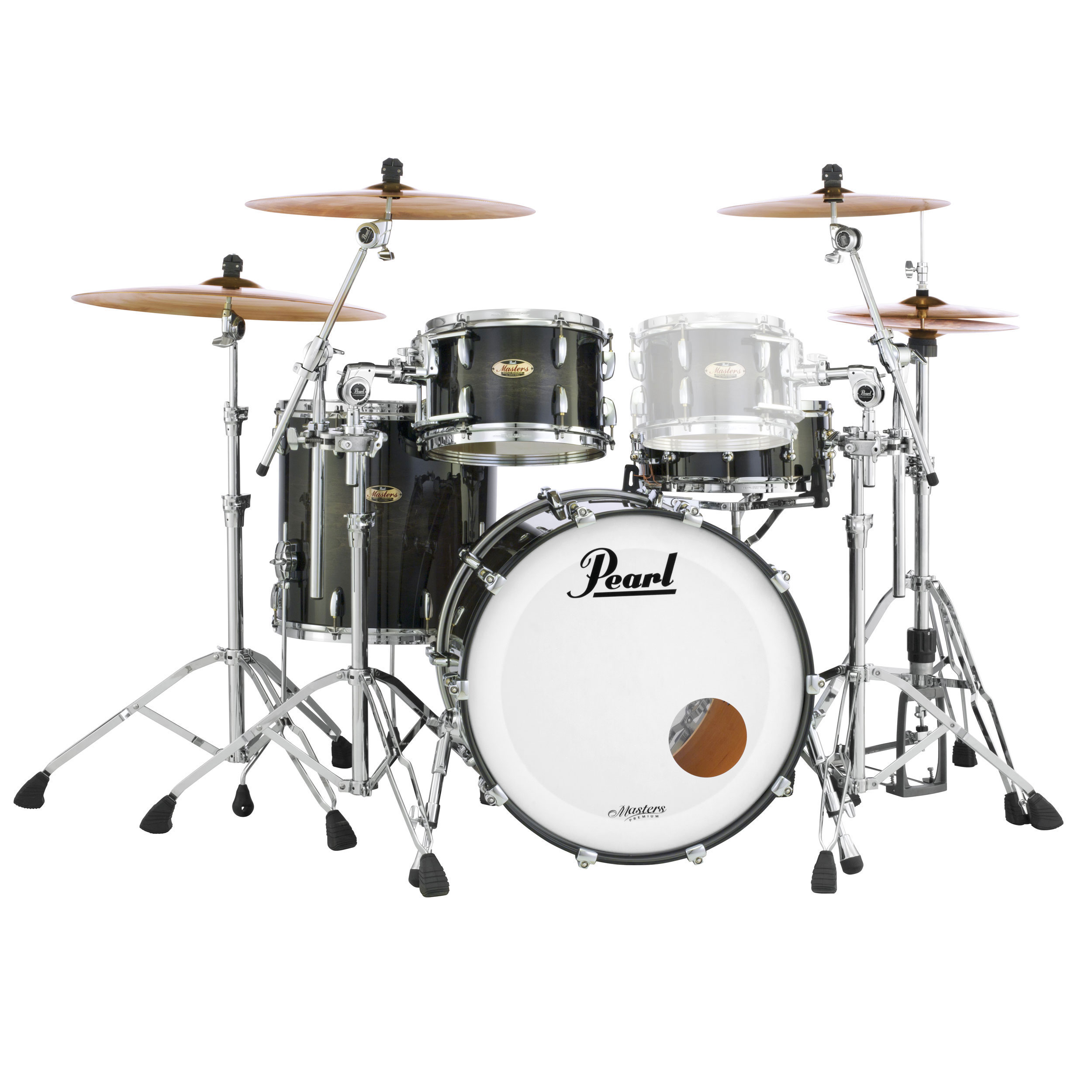 "Pearl Masters Maple Complete 3-Piece Drum Set Shell Pack (24"" Bass, 13/16"" Toms)"
