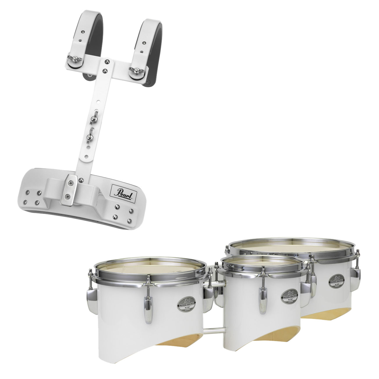 """Pearl 6/8/10"""" Junior Marching Trio Tenors with Carrier"""