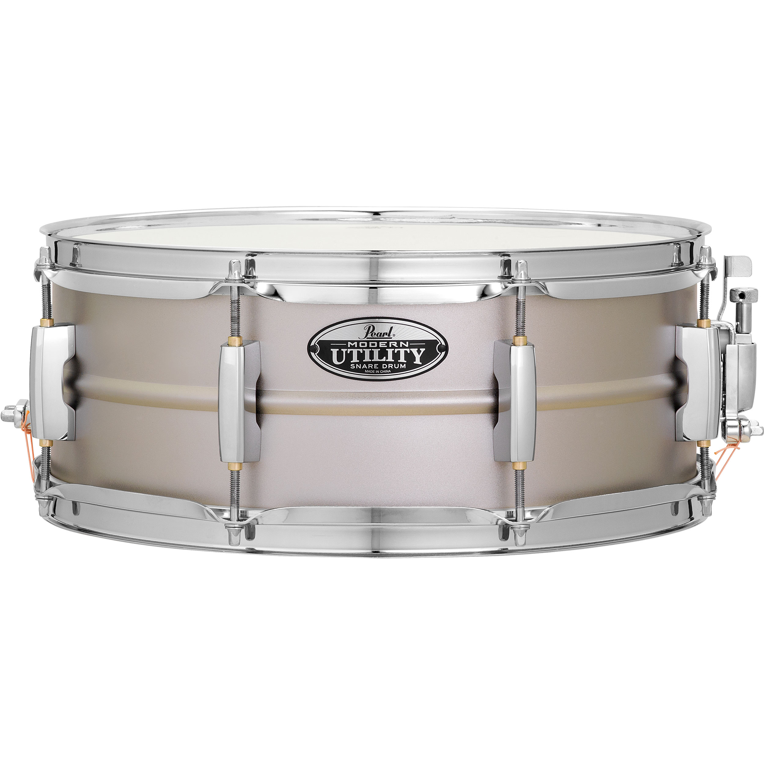 "Pearl 14"" x 5.5"" Modern Utility 1mm Beaded Steel Snare Drum"