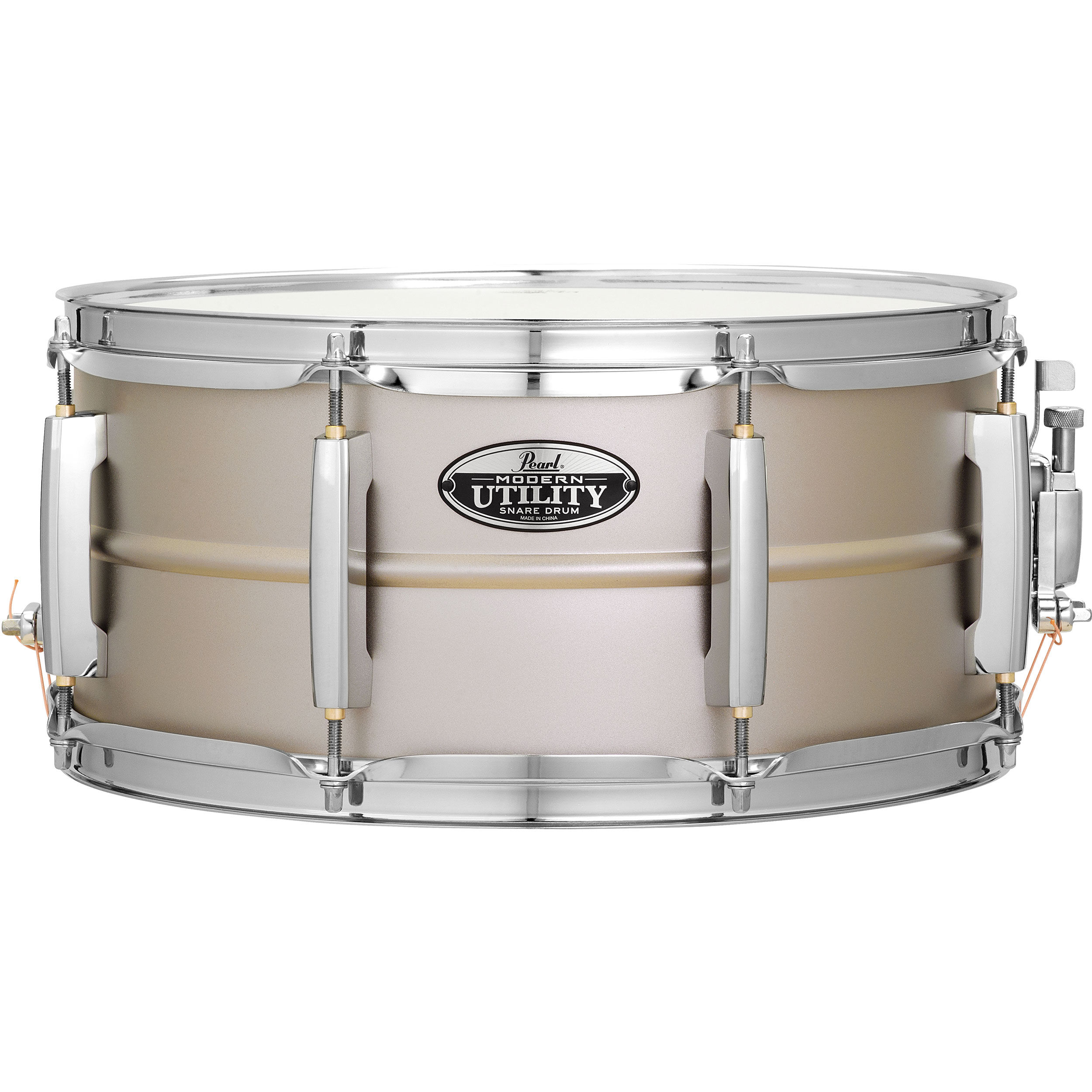 "Pearl 14"" x 6.5"" Modern Utility 1mm Beaded Steel Snare Drum"