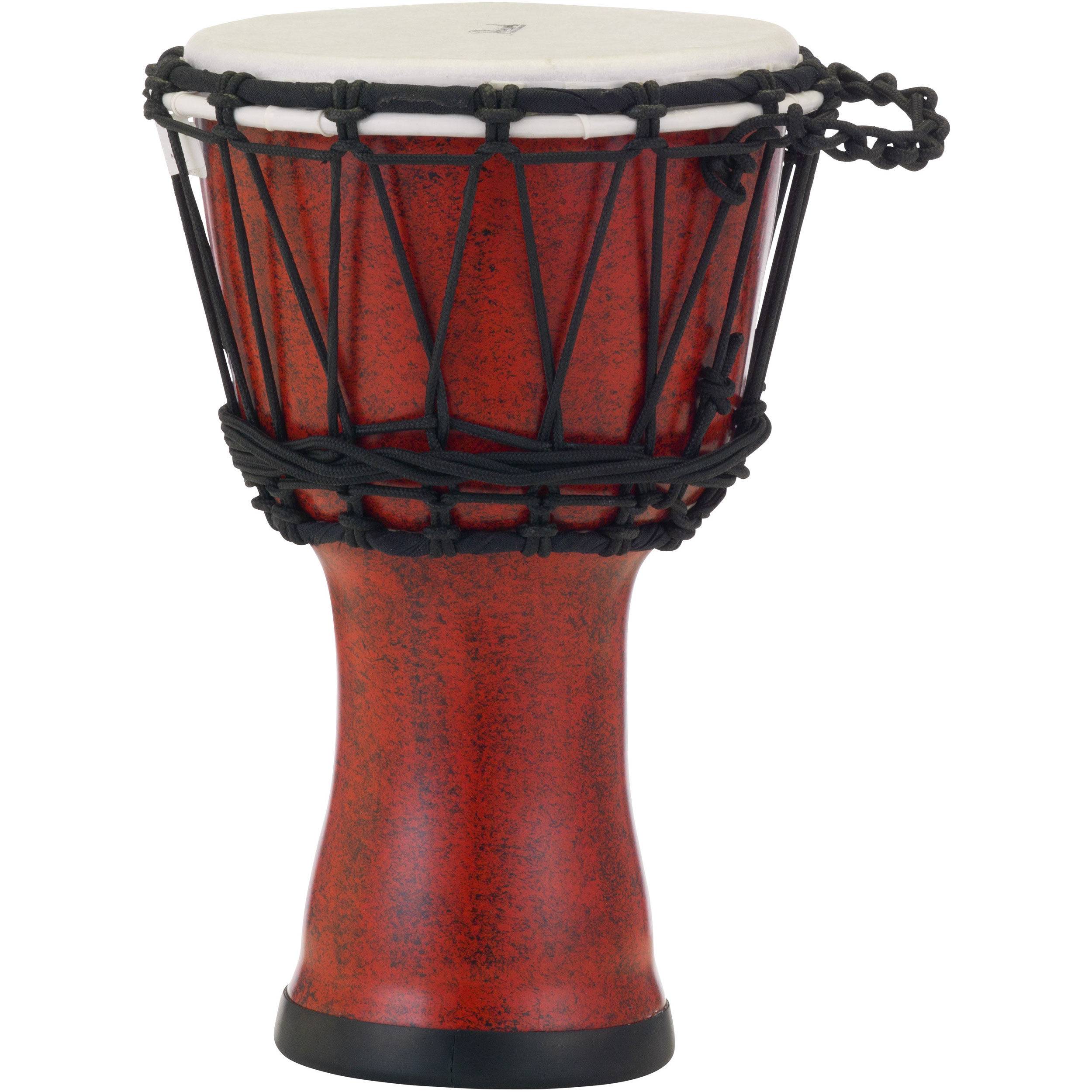 "Pearl 7"" Rope Tuned Djembe in Molten Scarlet"