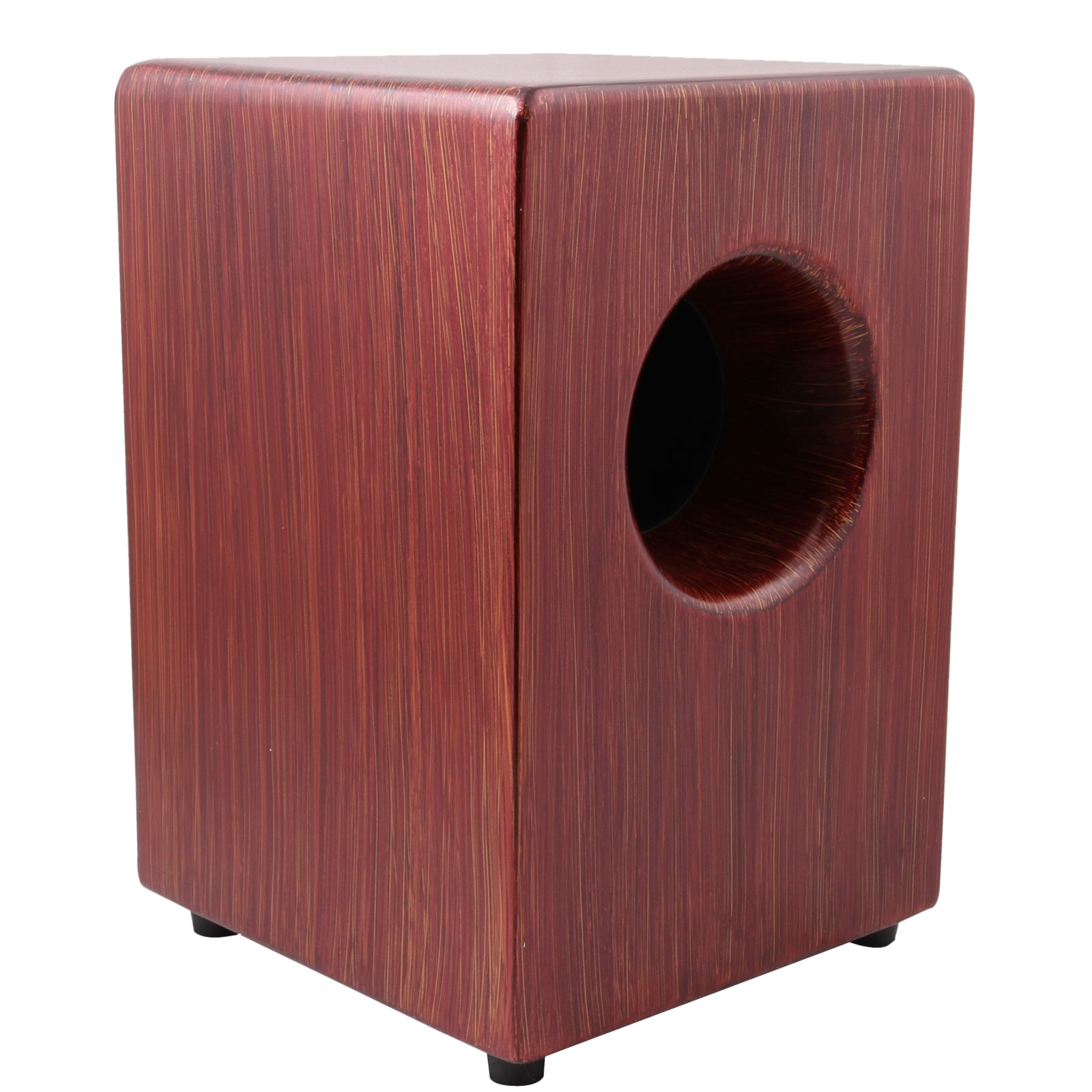 Pearl Fiberglass Boom Box Cajon with Ported Chamber and Artisan Red Mahogany Finish