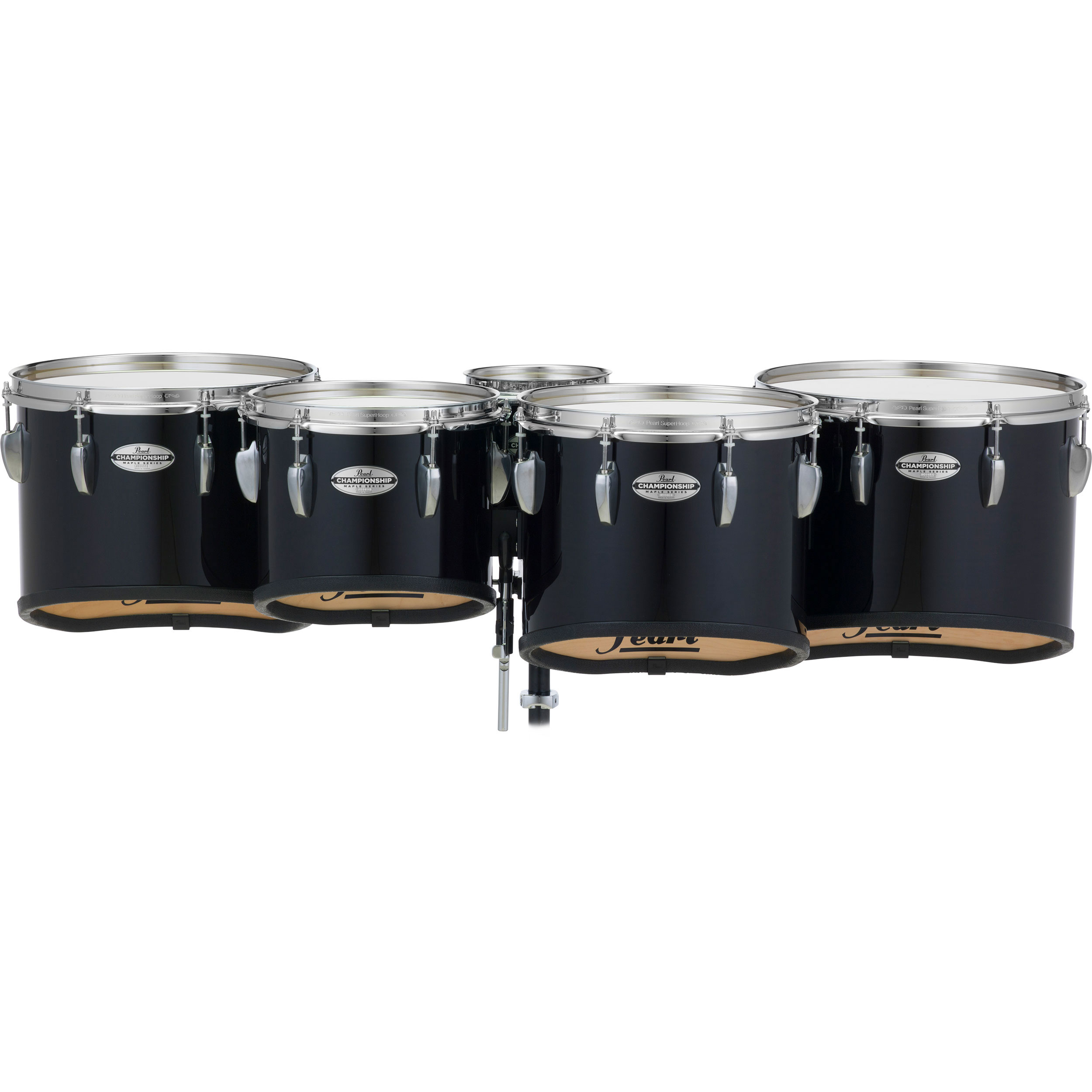 "Pearl 6-10-12-13-14"" PMTMS Championship Maple Shallow-Cut Marching Tenors in Wrap Finish"
