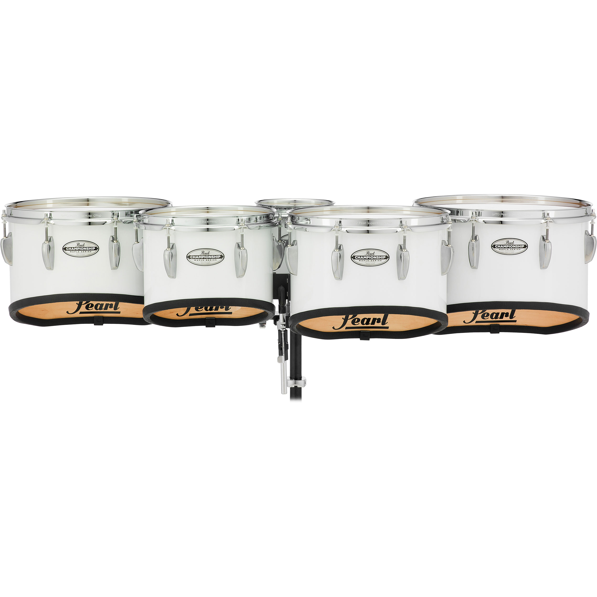 "Pearl 6-8-10-12-13"" PMTMS Championship Maple Shallow-Cut Marching Tenors in Wrap Finish"