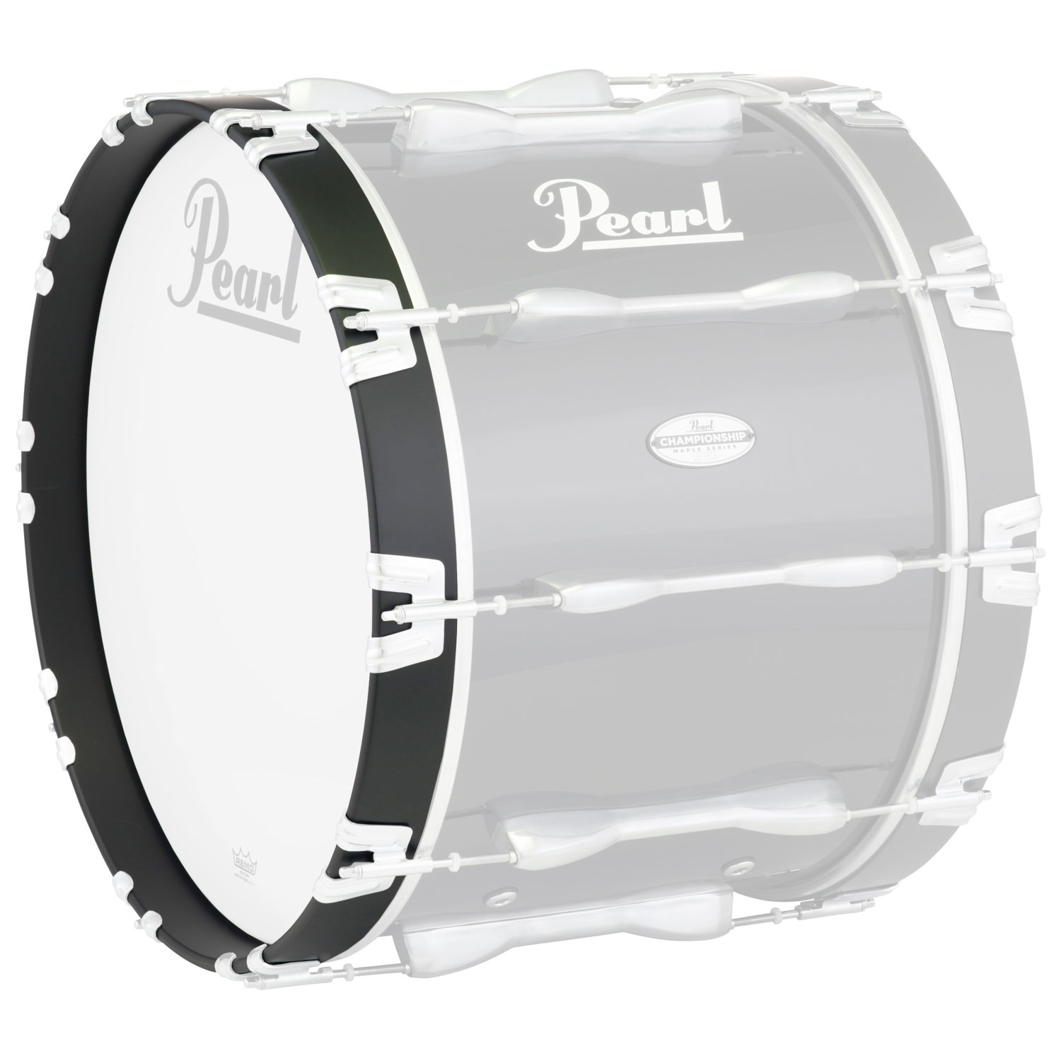 "Pearl 18"" Championship Bass Hoop, Gloss Black, 2"" Wide"