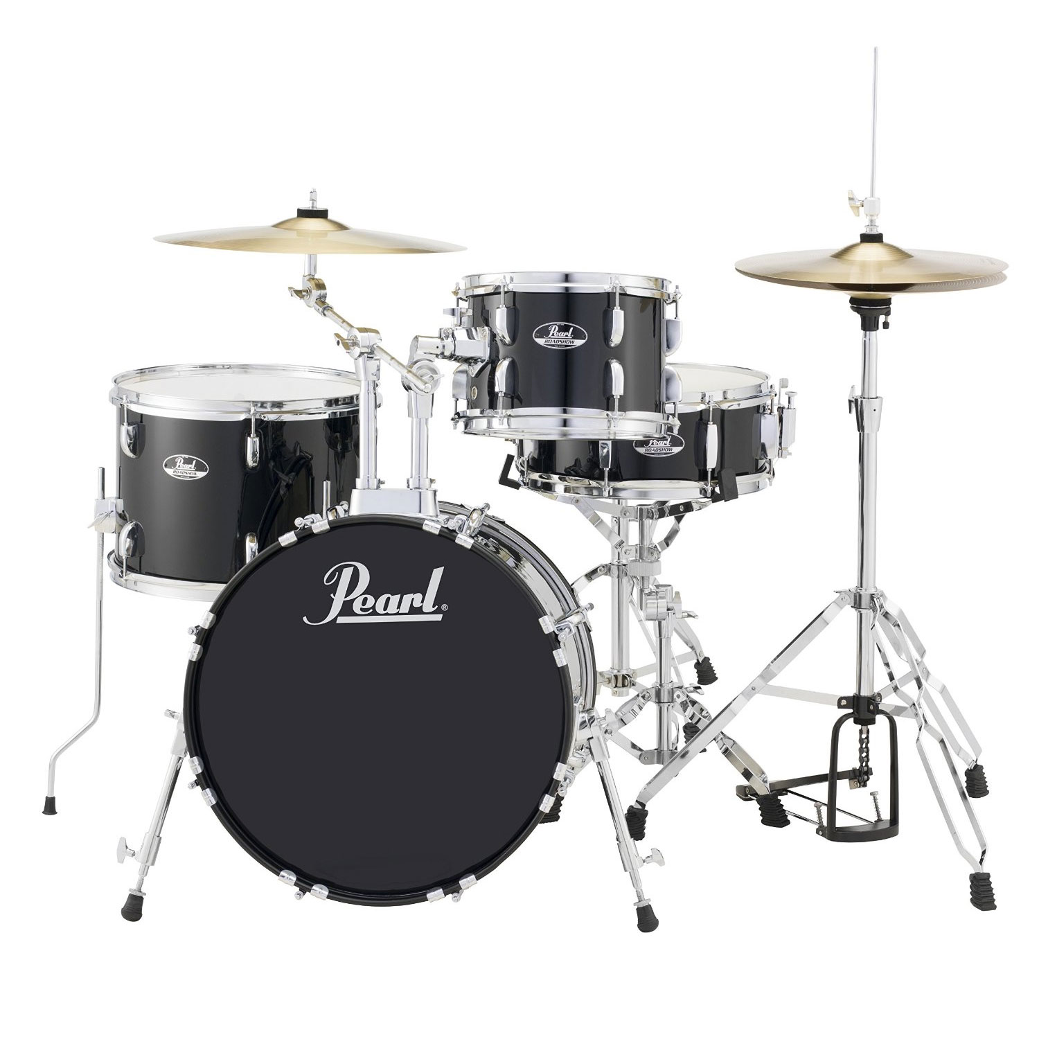 pearl roadshow bop 4 piece drum set with hardware and cymbals 18 bass 10 14 toms 13 snare. Black Bedroom Furniture Sets. Home Design Ideas