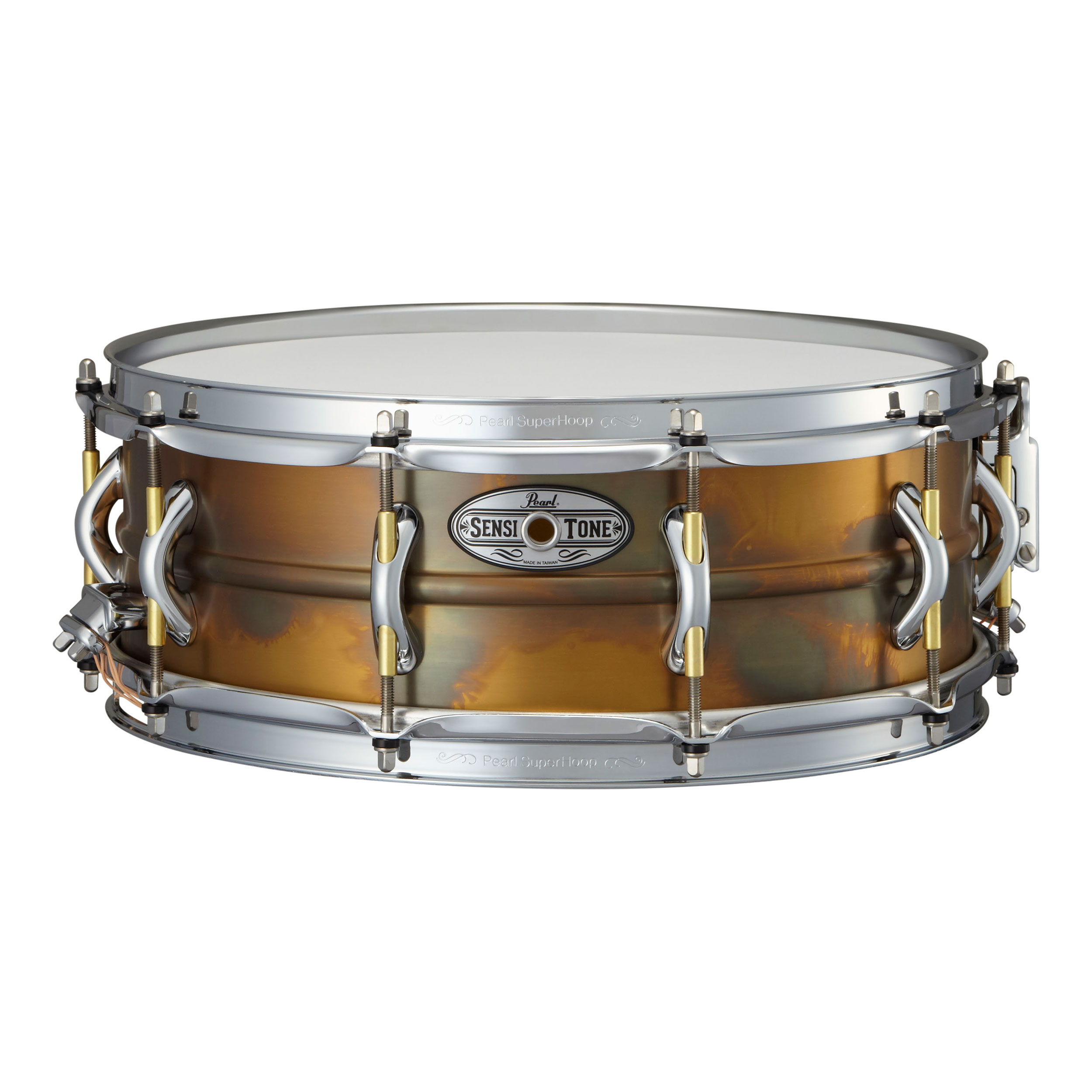 "Pearl 14"" x 5"" SensiTone Premium Patina Brass Snare Drum"