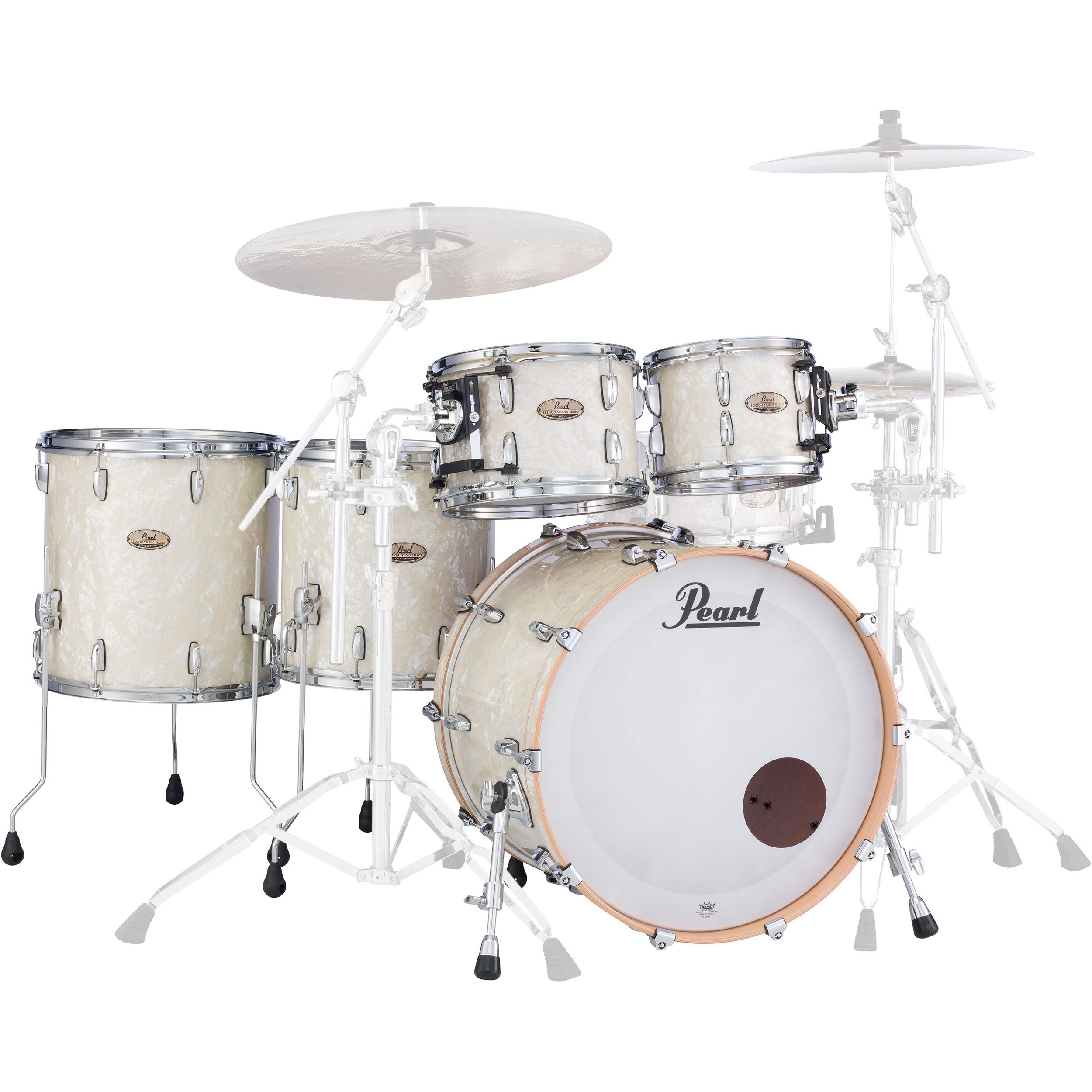 """Pearl Session Studio Select 5-Piece Drum Set Shell Pack (22"""" Bass, 10/12/14/16"""" Toms)"""