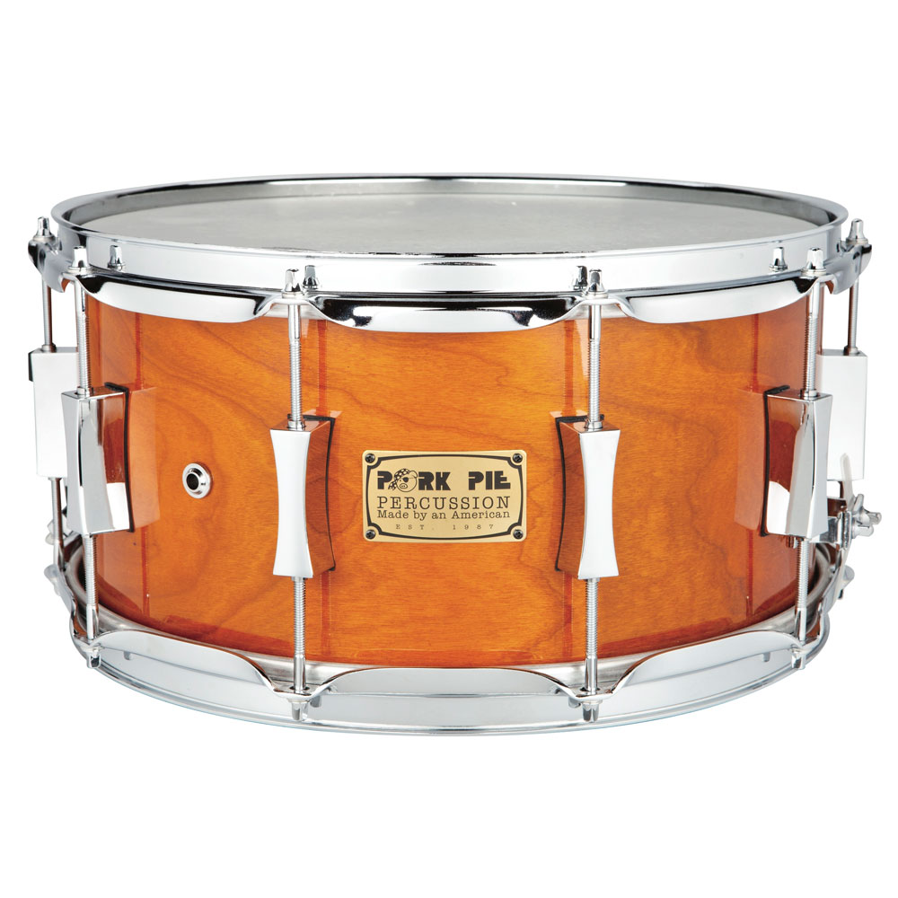 "Pork Pie 7"" x 14"" Cherry/Bubinga Snare Drum"