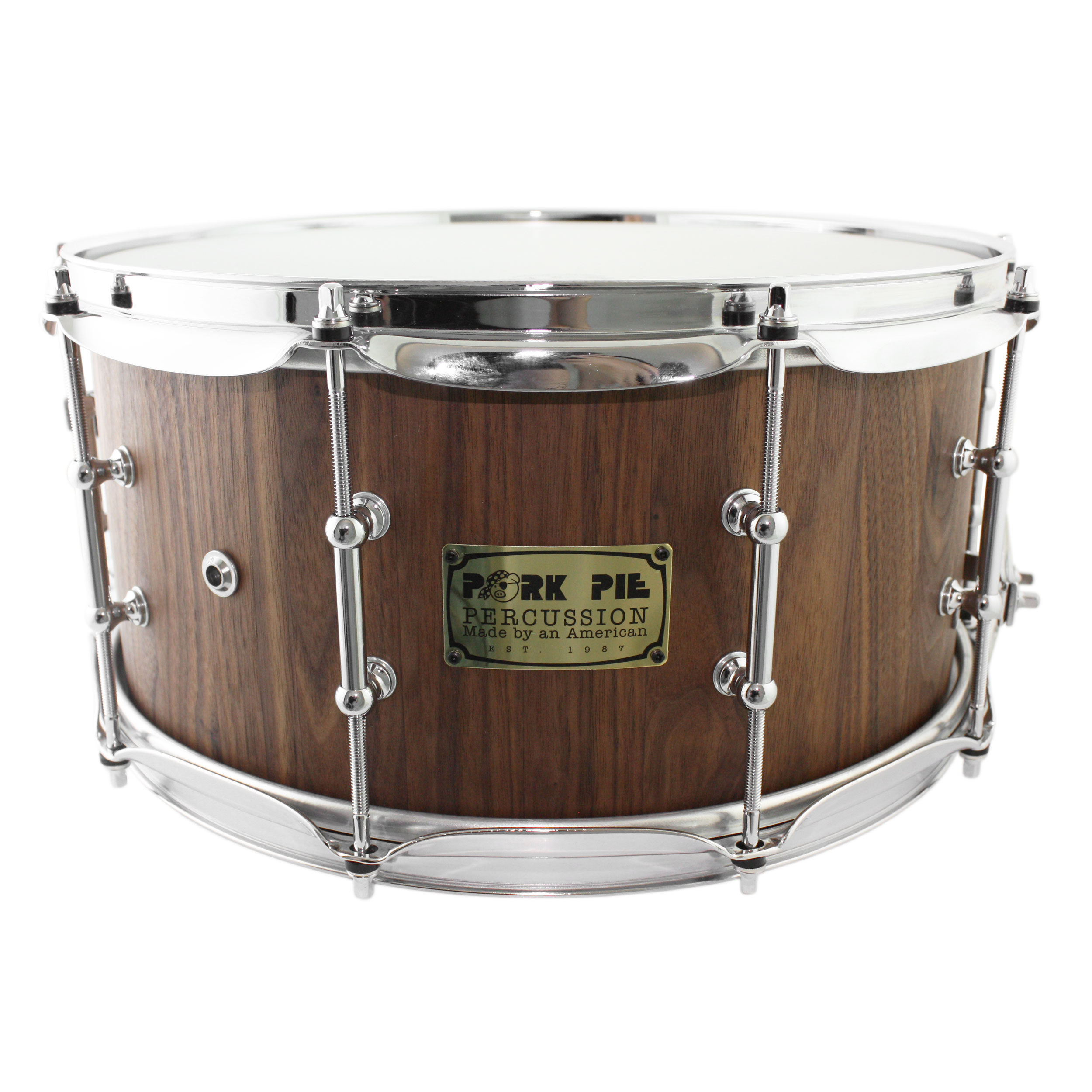 "Pork Pie 7"" x 14"" Walnut Stave Snare Drum"