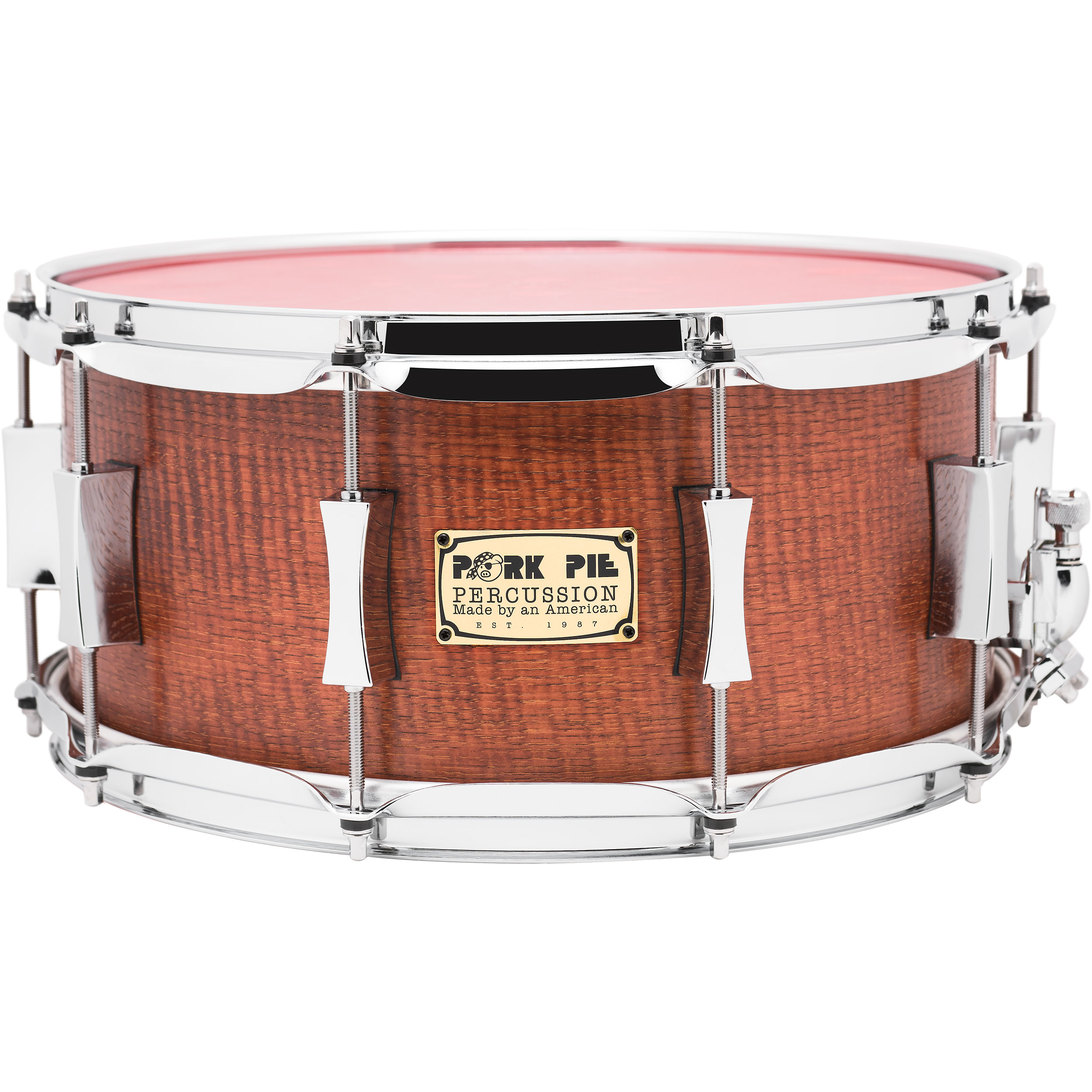 "Pork Pie Percussion 6.5"" x 14"" Hickory Snare Drum"
