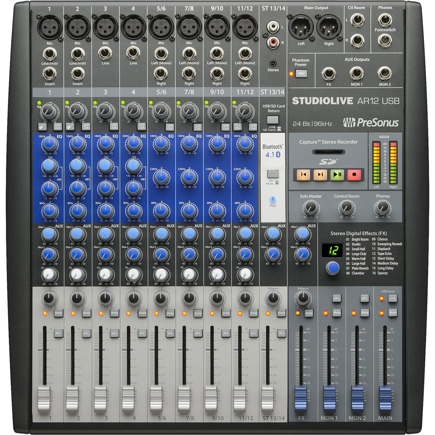 PreSonus 14-Channel Hybrid Digital/Analog Performance Mixer