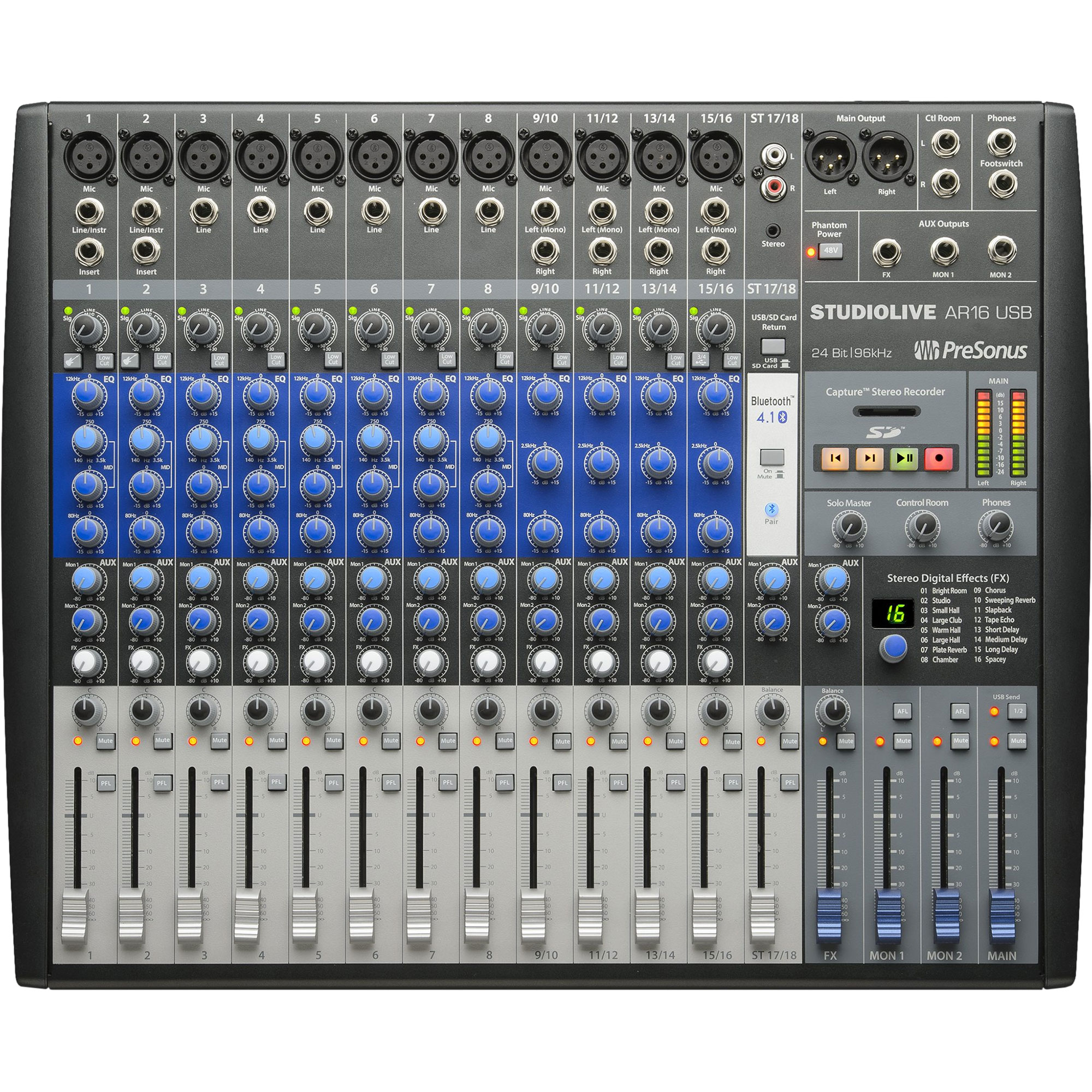PreSonus 18-Channel Hybrid Digital/Analog Performance Mixer