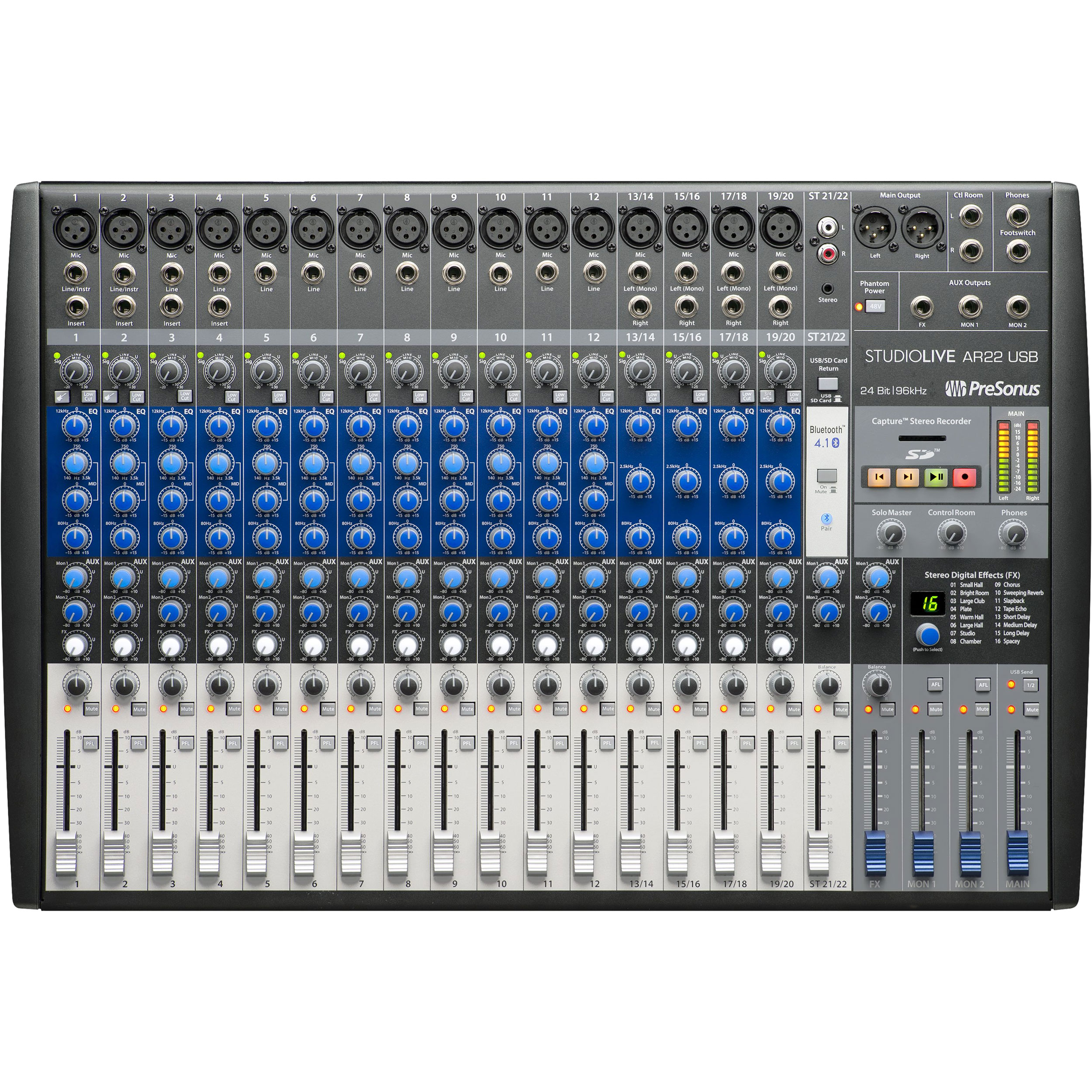 PreSonus 22-Channel Hybrid Digital/Analog Performance Mixer