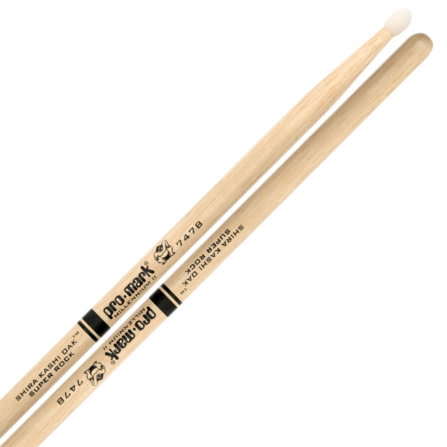 Promark Super Rock Shira Kashi Oak Nylon Tip Drumsticks