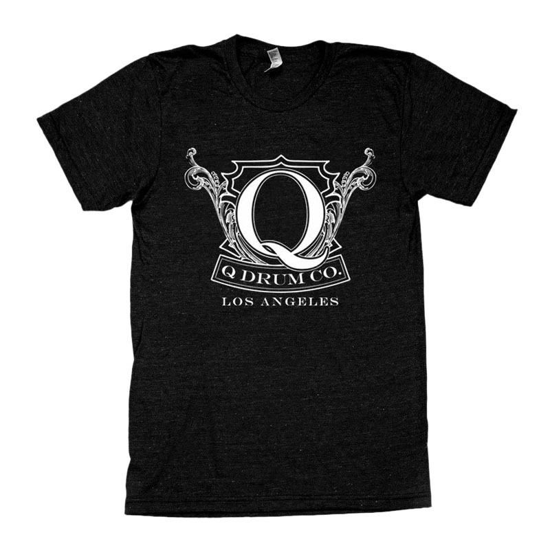 Q Drum Co. Crest Vintage Black T-Shirt