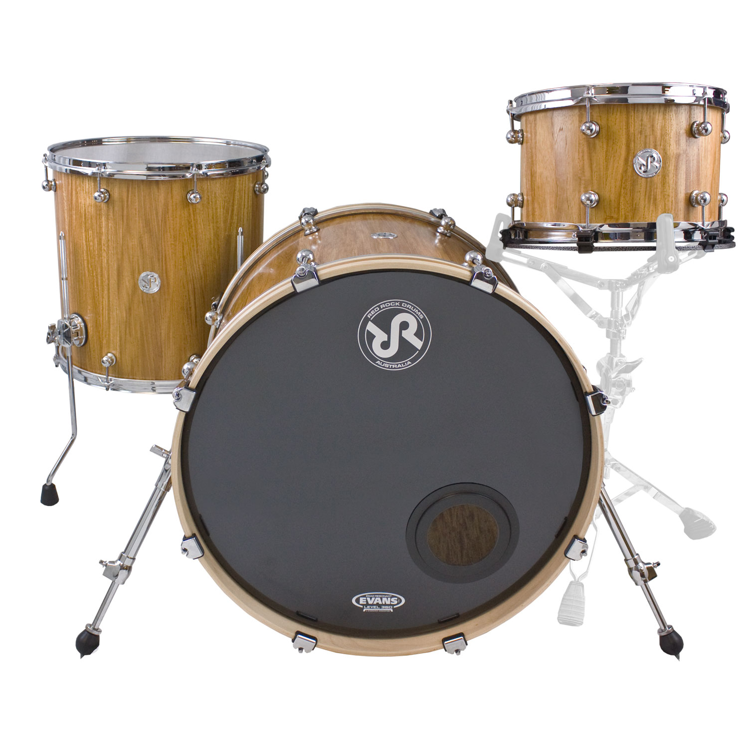 "Red Rock Drums New Guinea Rosewood 3-Piece Drum Set Shell Pack (22"" Bass, 12/16"" Toms)"